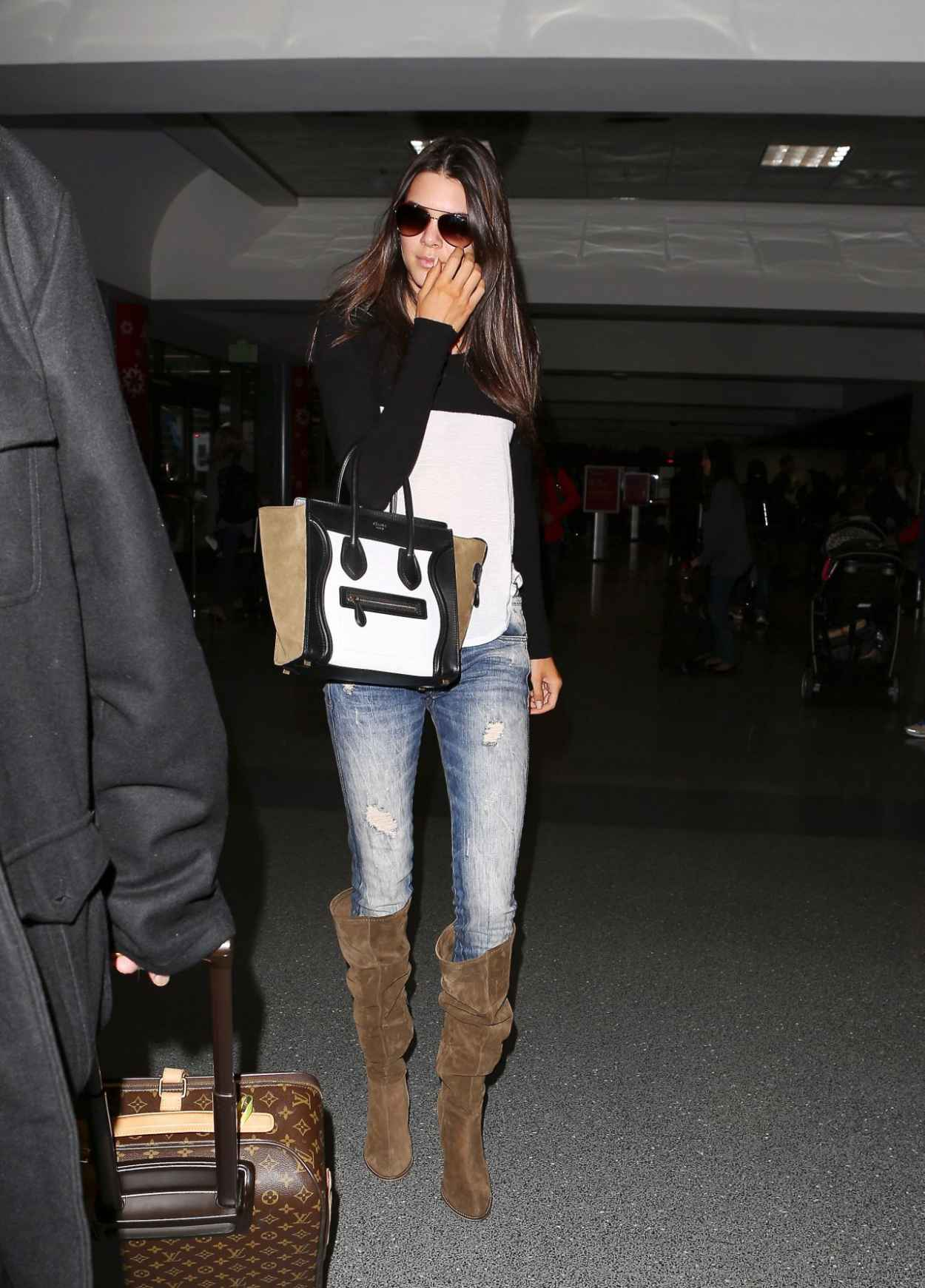 Kendall Jenner in Jeans at LAX Airport - November 2015-1