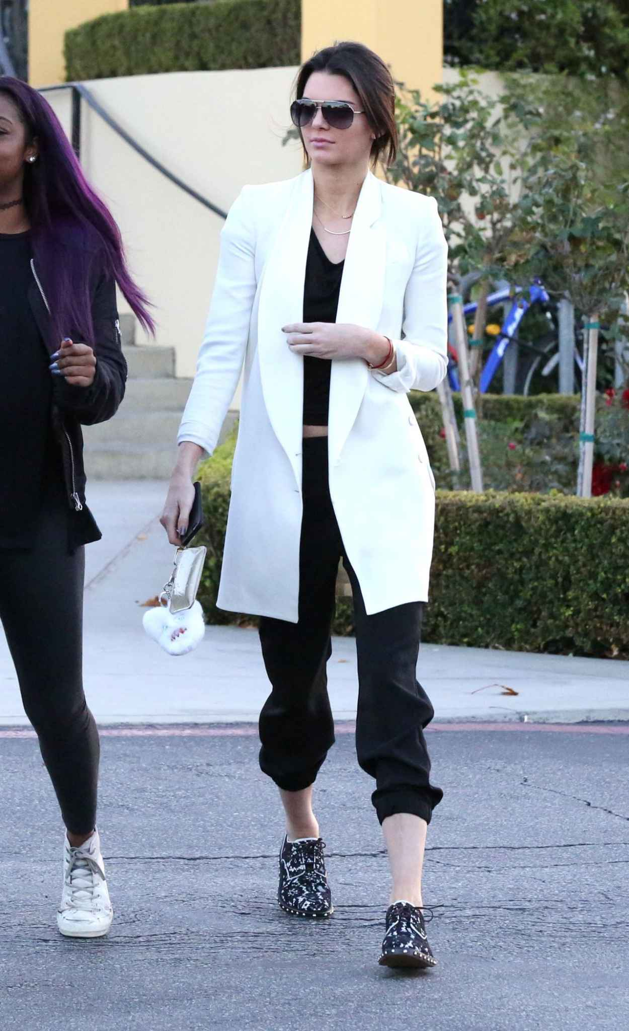 Kendall Jenner Street Style Leaving Sugarfish Sushi In