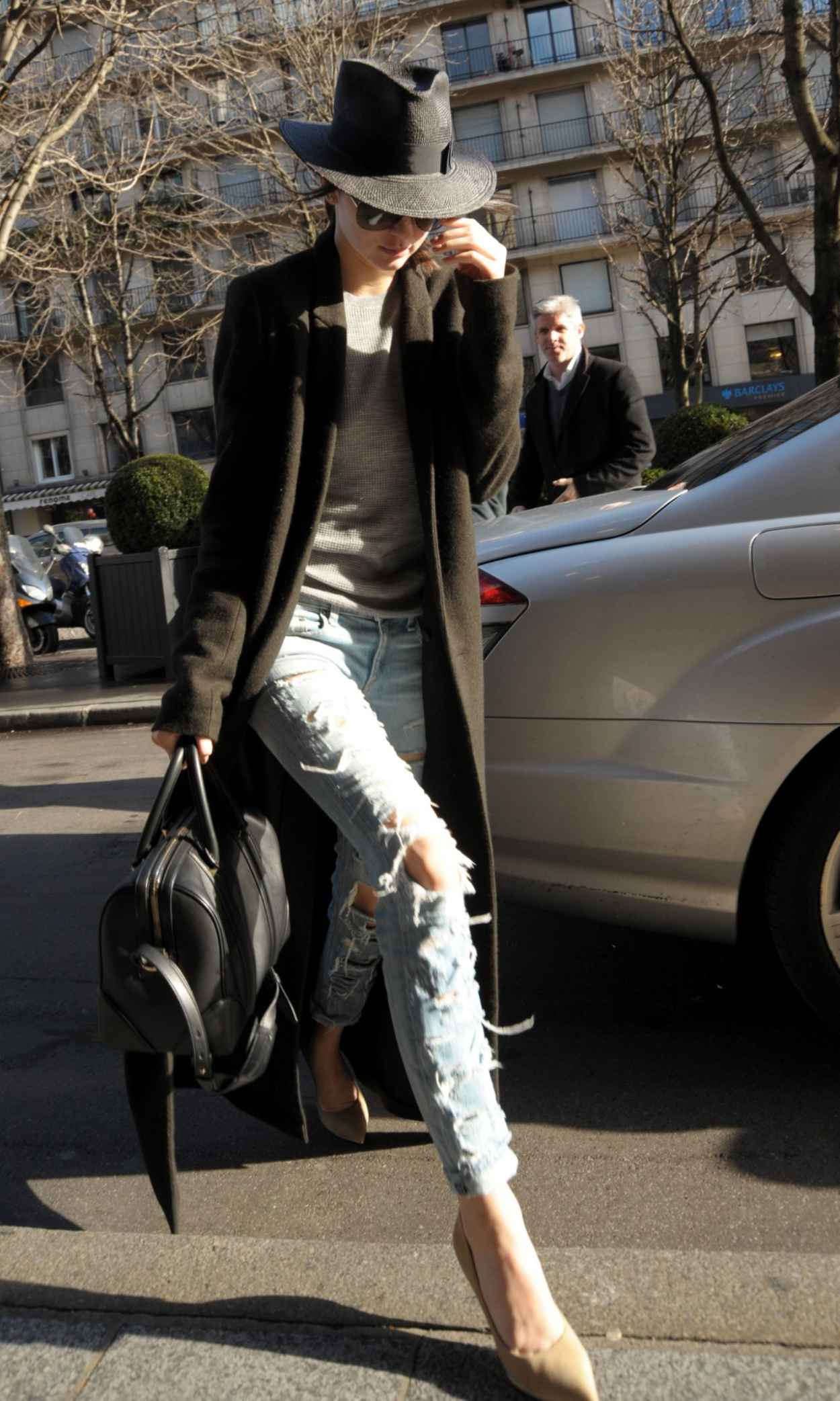Kendall Jenner Street Style Out In Paris January 2015