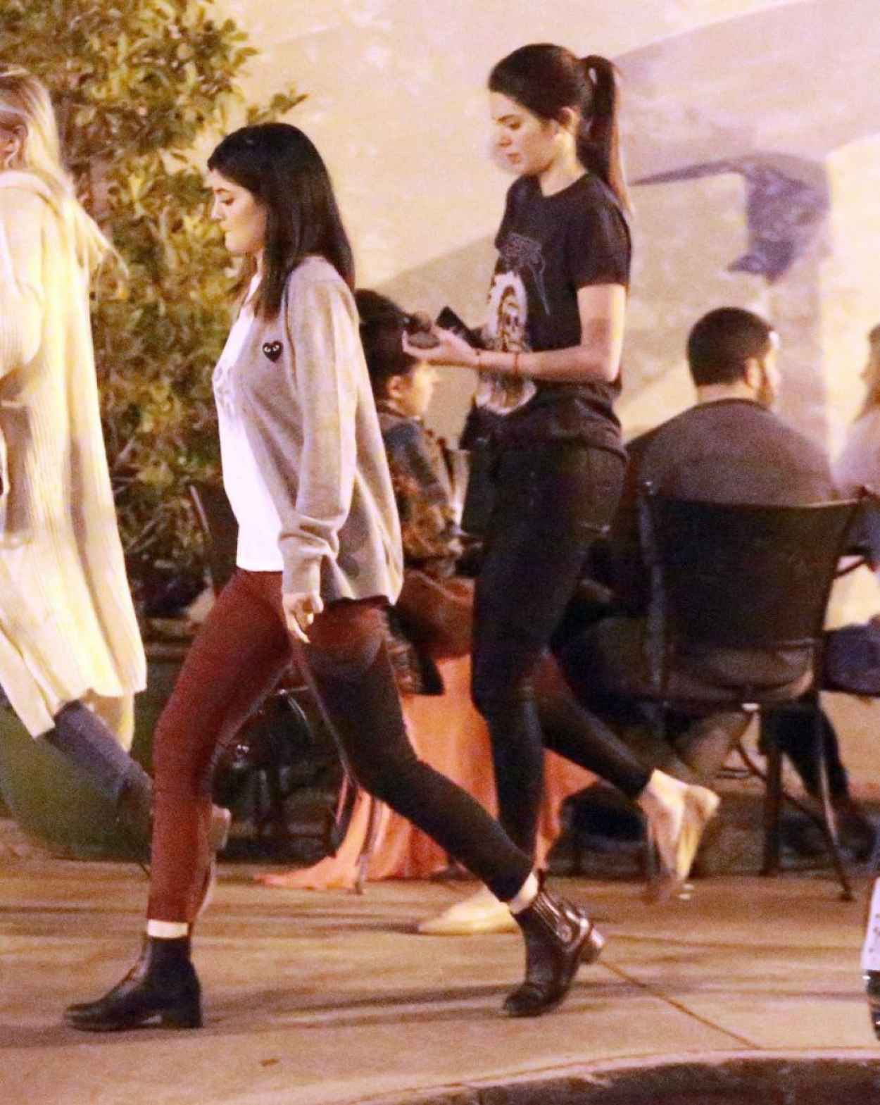 Kendall & Kylie Jenner Street Style - Leaving Urth Caffe in West Hollywood, January 2015-1
