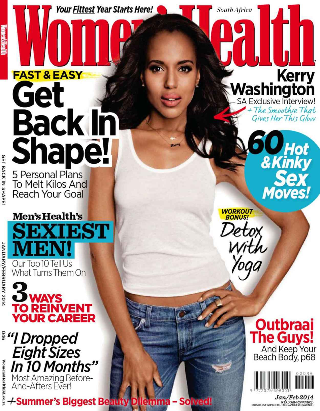 Kerry Washington - WOMENS HEALTH Magazine (South Africa) - January/February 2015 Issue-1