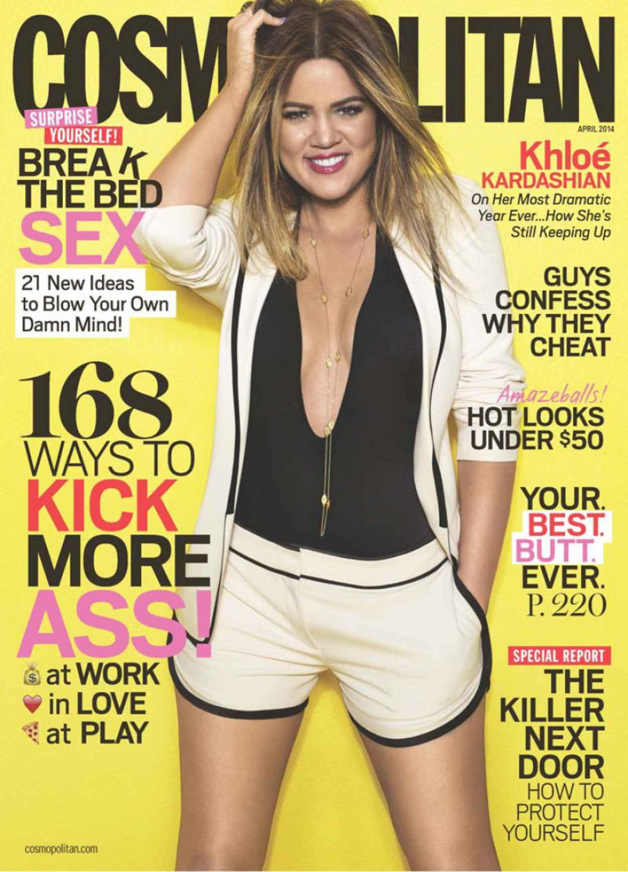 Khloe Kardashian - Cosmopolitan Magazine - April 2015 Issue-1
