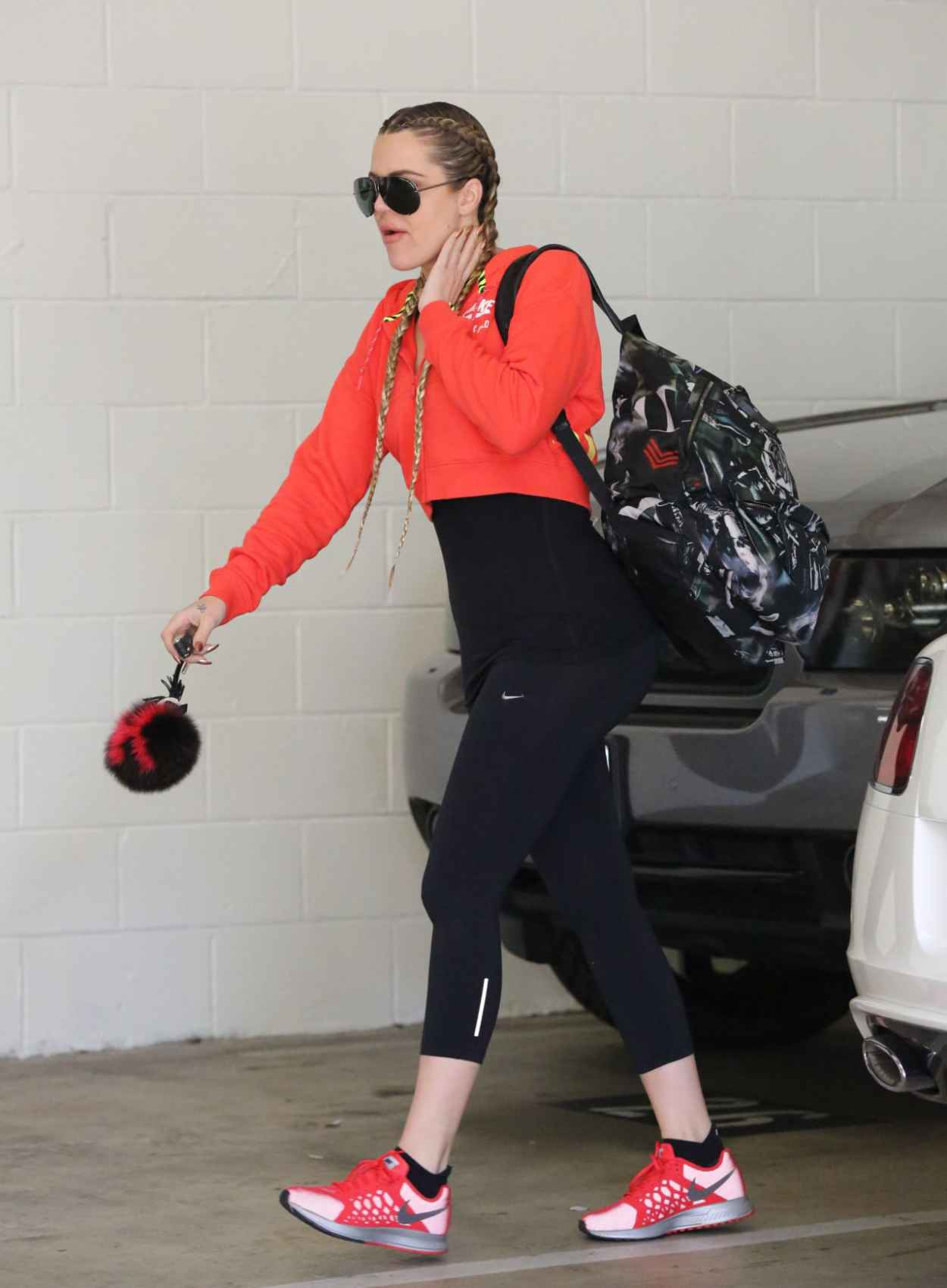 Khloe Kardashian Gym Style - Beverly Hills, April 2015-5