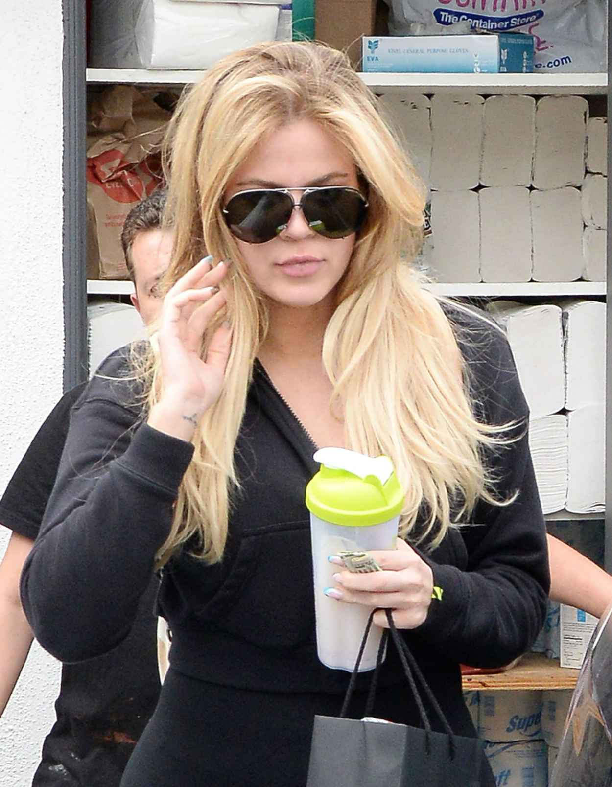 Khloe Kardashian - Leaving a Hair Salon After Getting Her Hair Done in Beverly Hills, June 2015-2