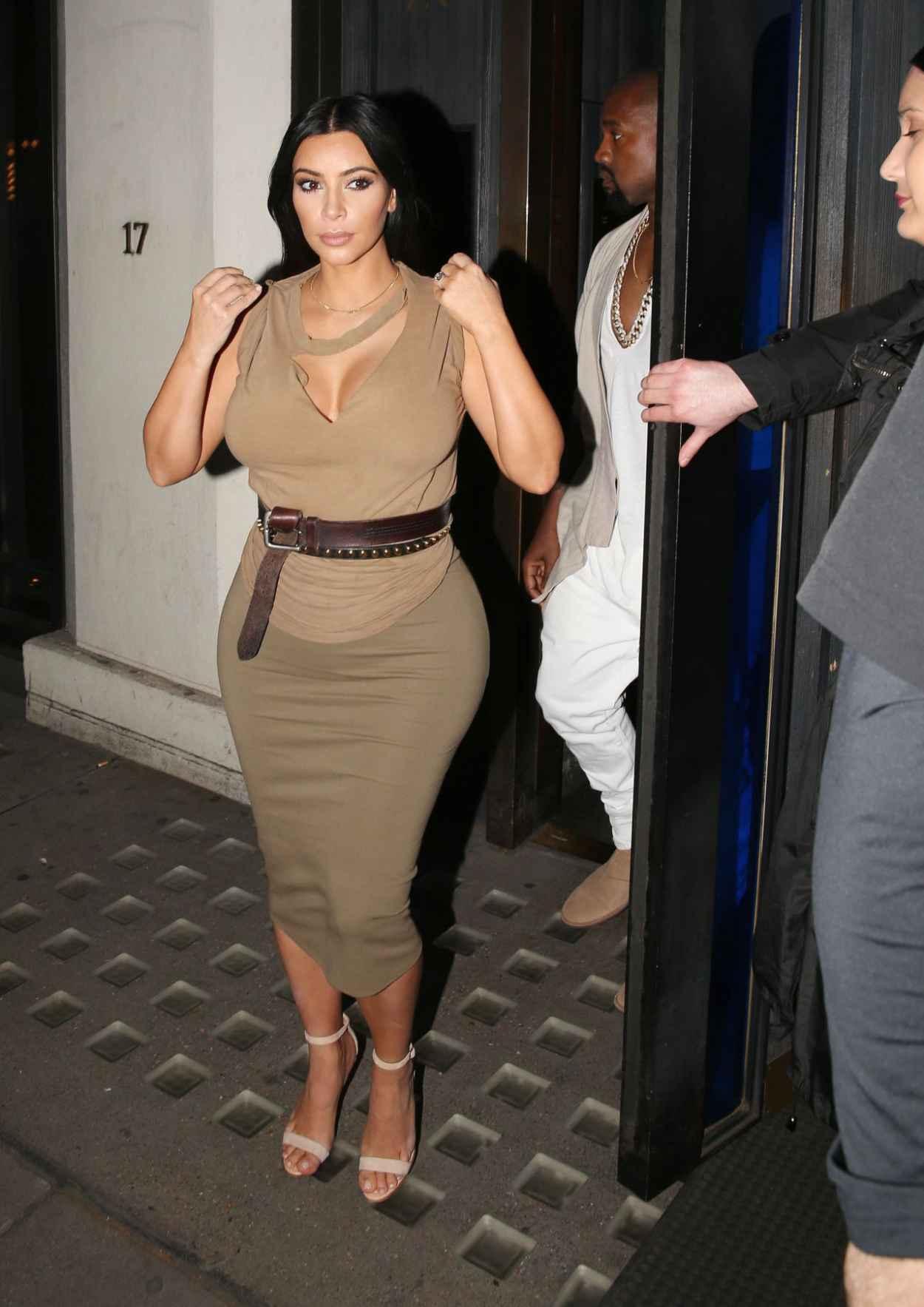 Kim Kardashian Night Out Style U2013 At Hakkasan June 2015 U2013 Celebsla.com