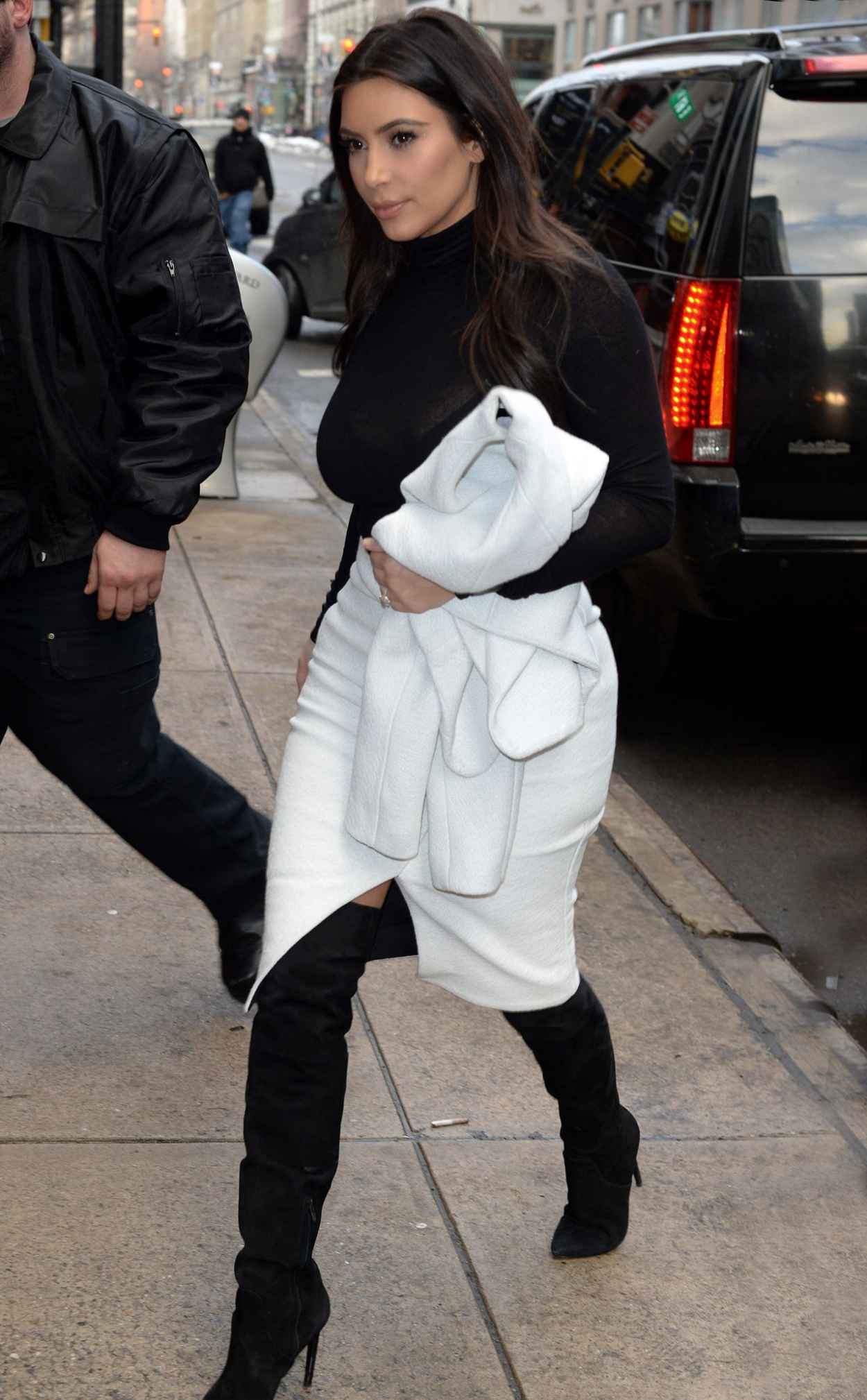 Kim Kardashian in Proenza Schouler - Shopping at Barneys, New York City-1