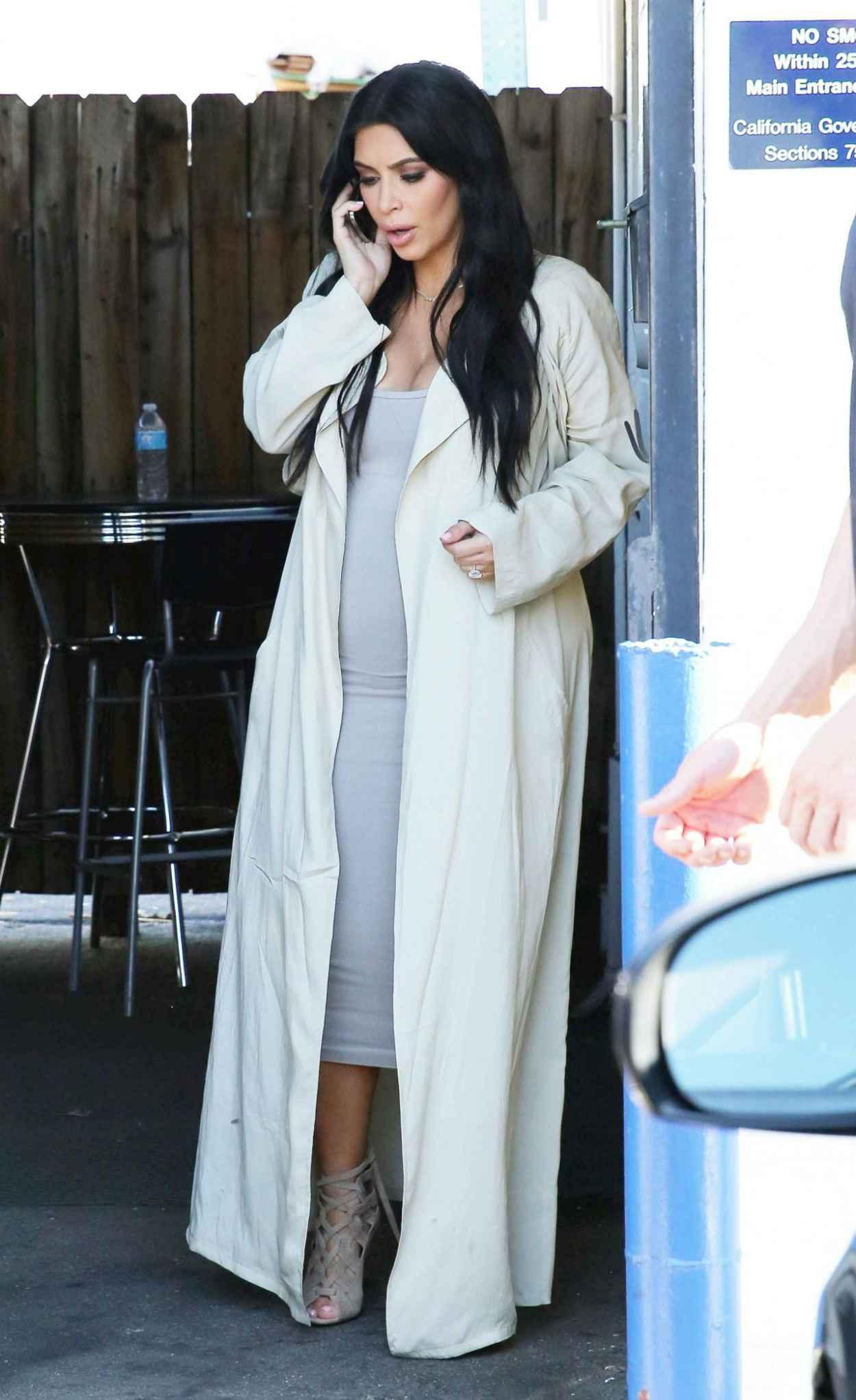 Kim Kardashian Street Fashion At A Studio In Los Angeles