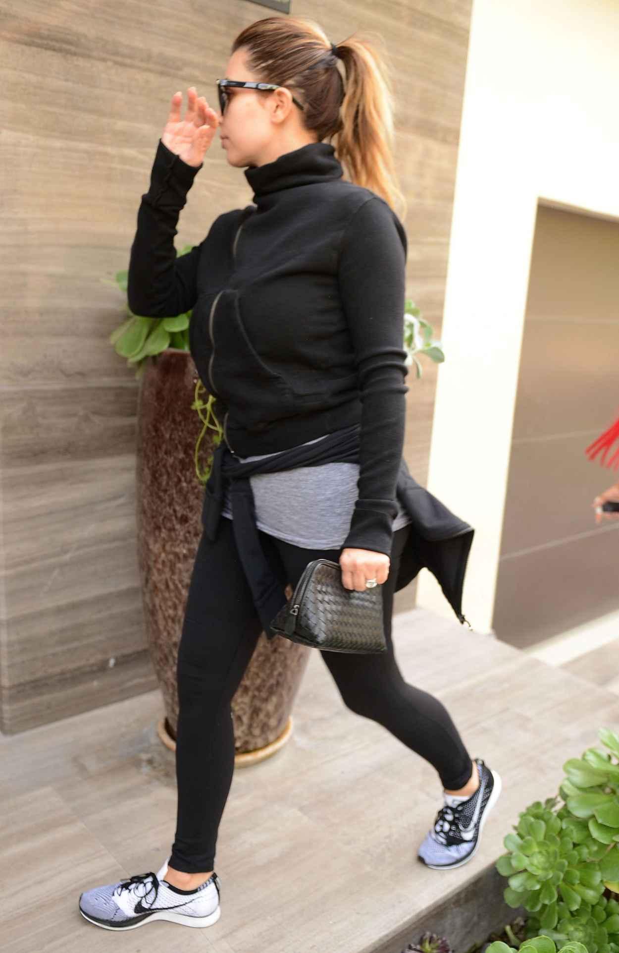 Kim Kardashian Street Style - Visits a Friend in Beverly Hills - December 2015-2