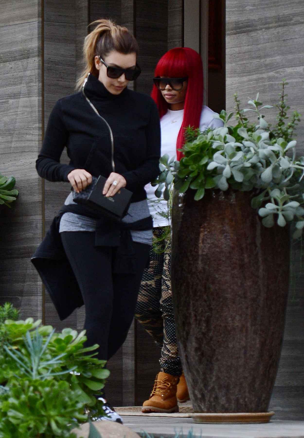 Kim Kardashian Street Style - Visits a Friend in Beverly Hills - December 2015-4