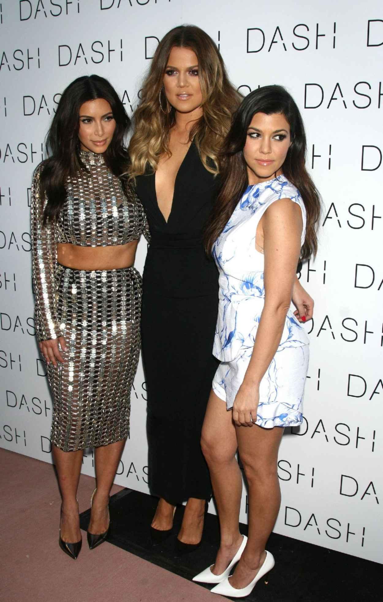 Kim, Khloe, & Kourtney Kardashian - Grand Opening of DASH in Miami Beach - March 2015-1