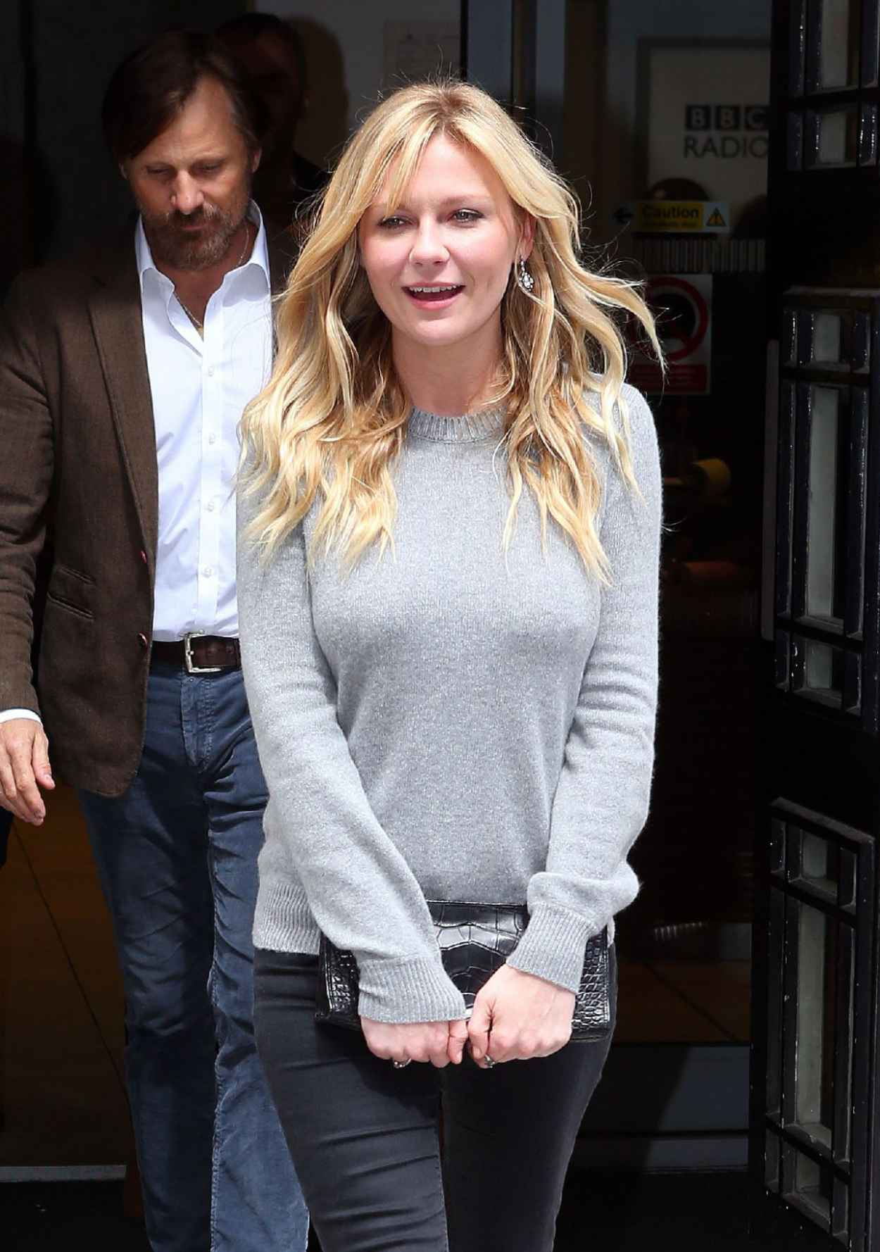 Kirsten Dunst Casual Style - Leaving the BBC Radio 2 Studio in London - May 2015-1