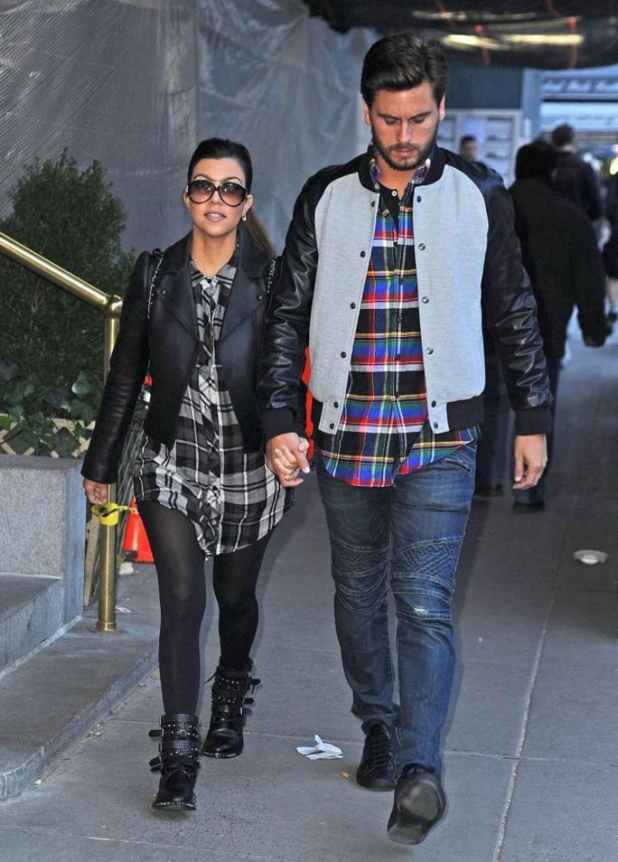 Kourtney Kardashian Street Style - Shopping in New York City-1