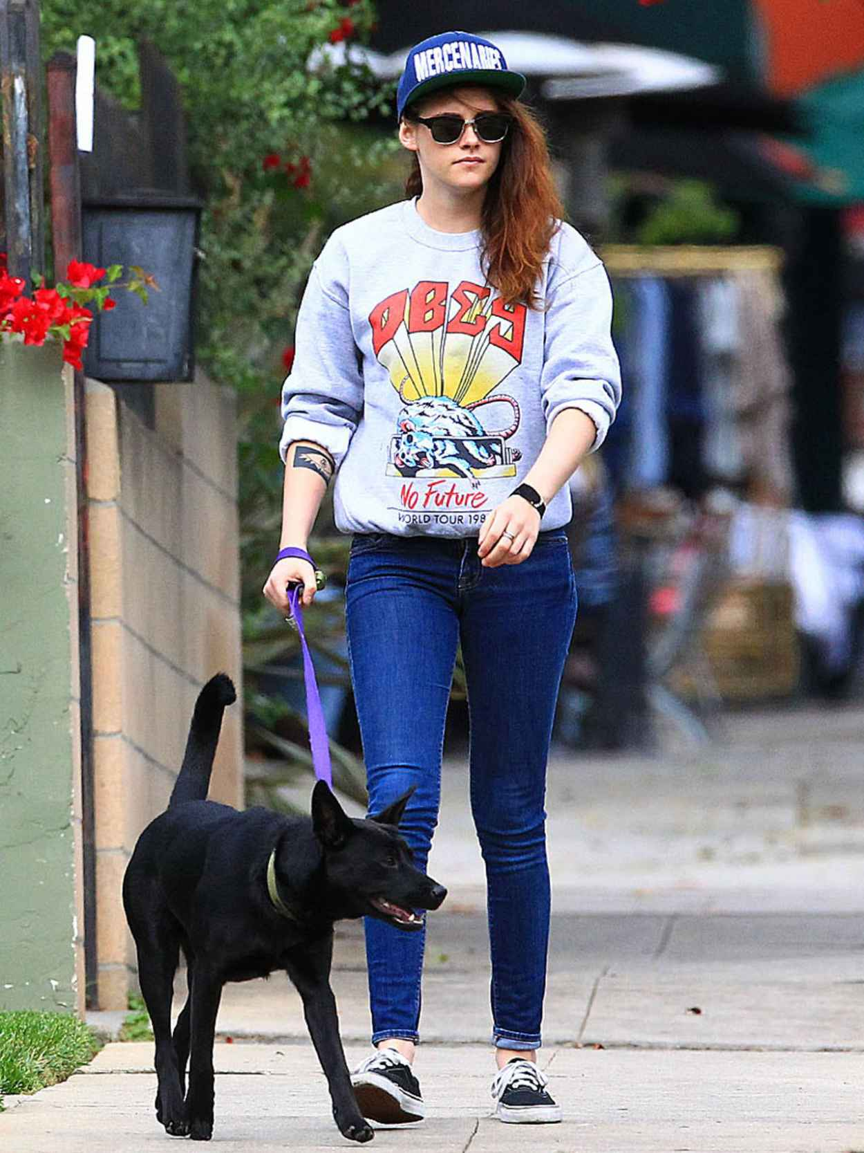 Kristen Stewart Out With Her Dog in Los Angeles - November 2015-1