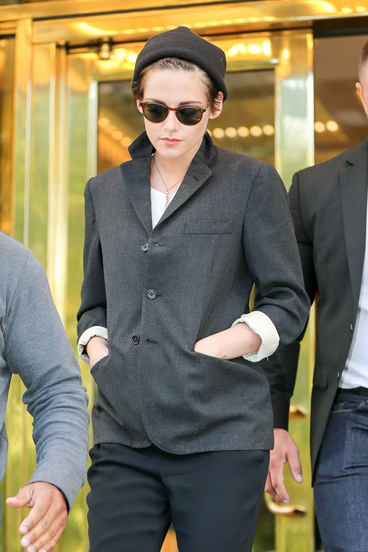 Kristen Stewart Street Style Fashion Out In New York