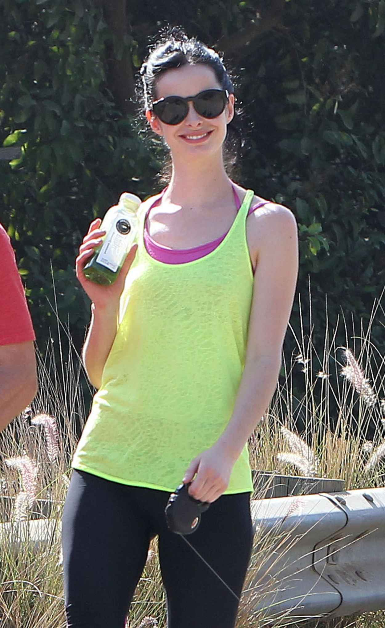 Krysten Ritter - Hike at Runyon Canyon Park in Los Angeles - January 2015-1