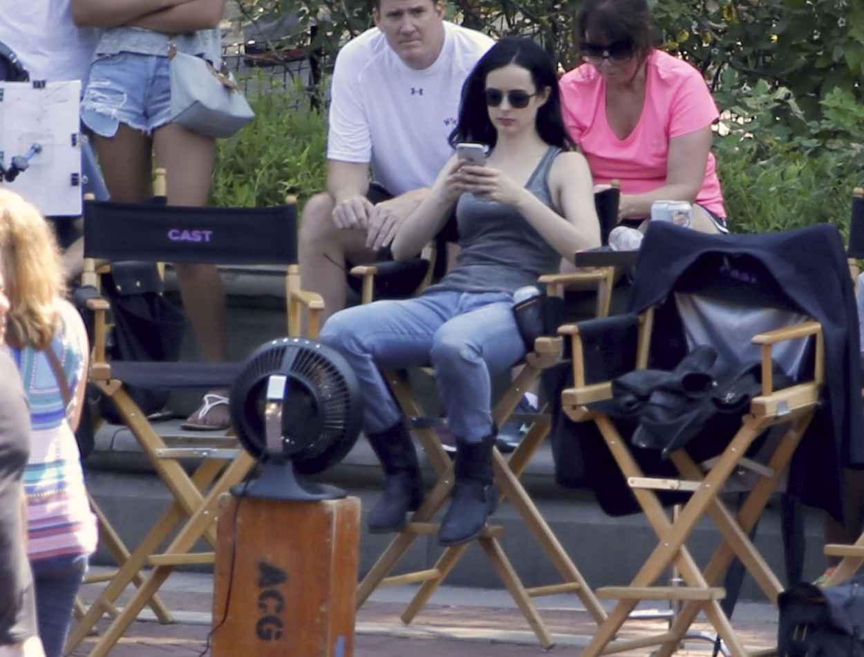 Krysten Ritter - Jessica Jones Set Photos, NYC, July 2015-5