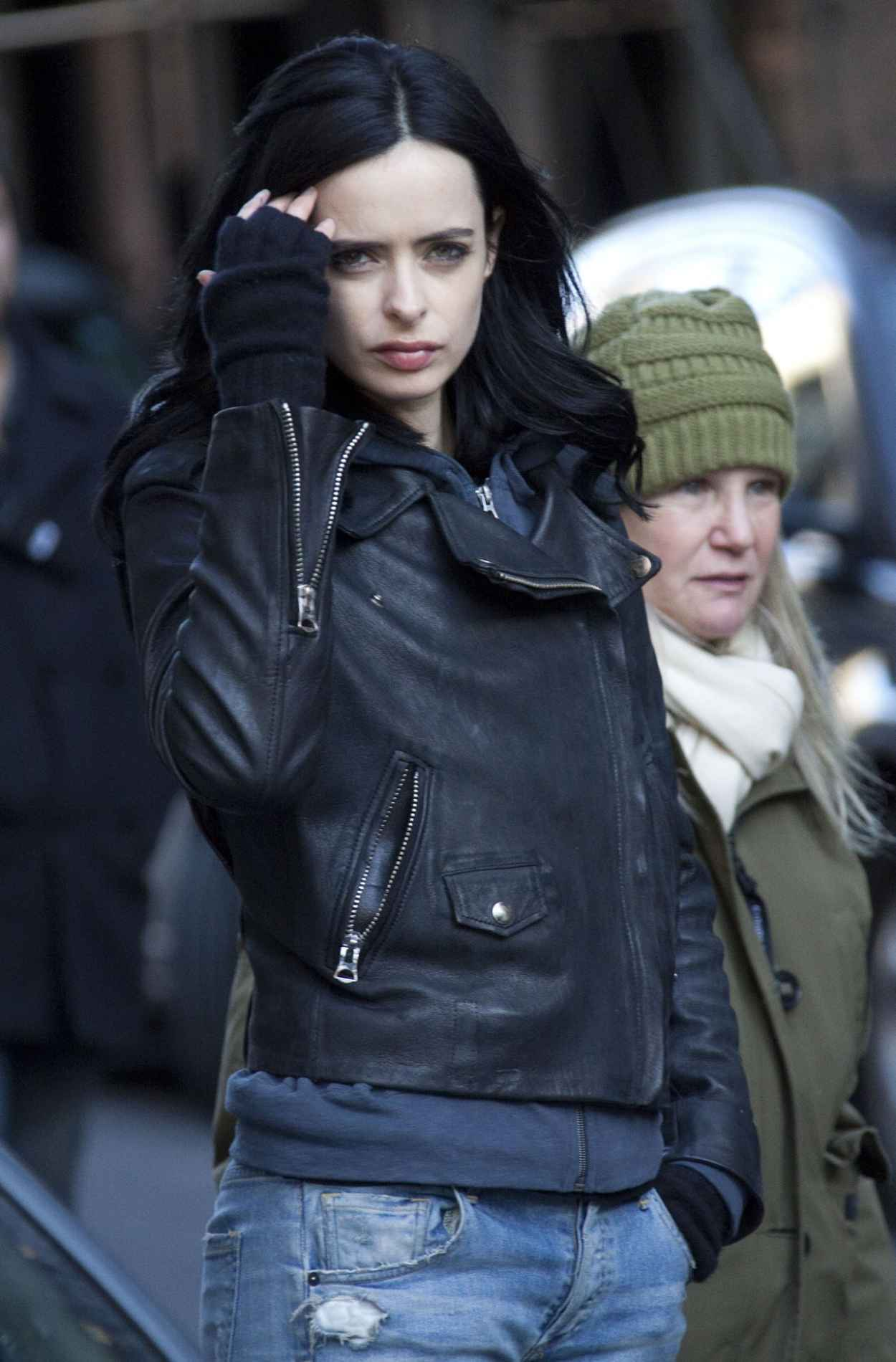 Krysten Ritter on the Set of A.K.A. Jessica Jones in New York City, March 2015-1