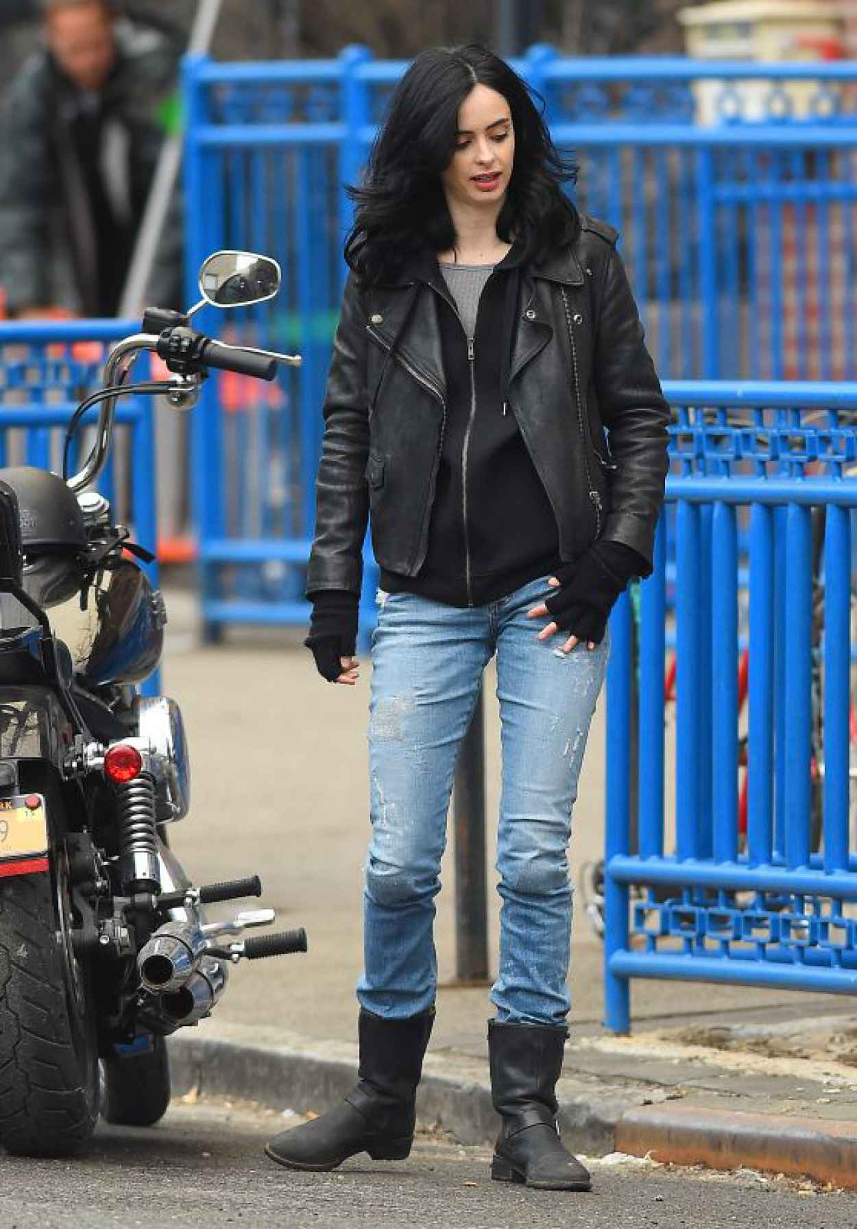 Krysten Ritter On the Set of A.K.A. Jessica Jones in NYC, April 2015-1