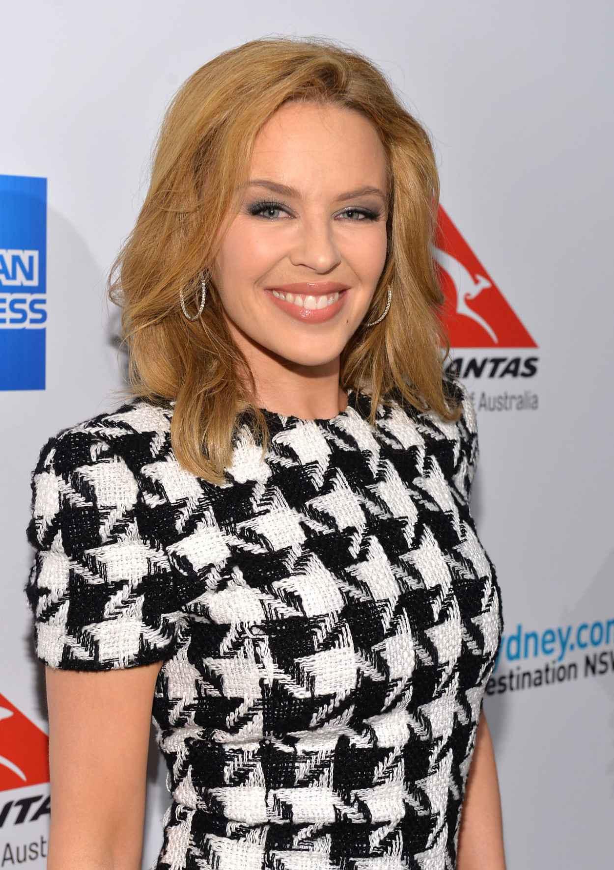 Kylie Minogue in Balmain - Qantas Spirit of Australia Party in Beverly Hills-1