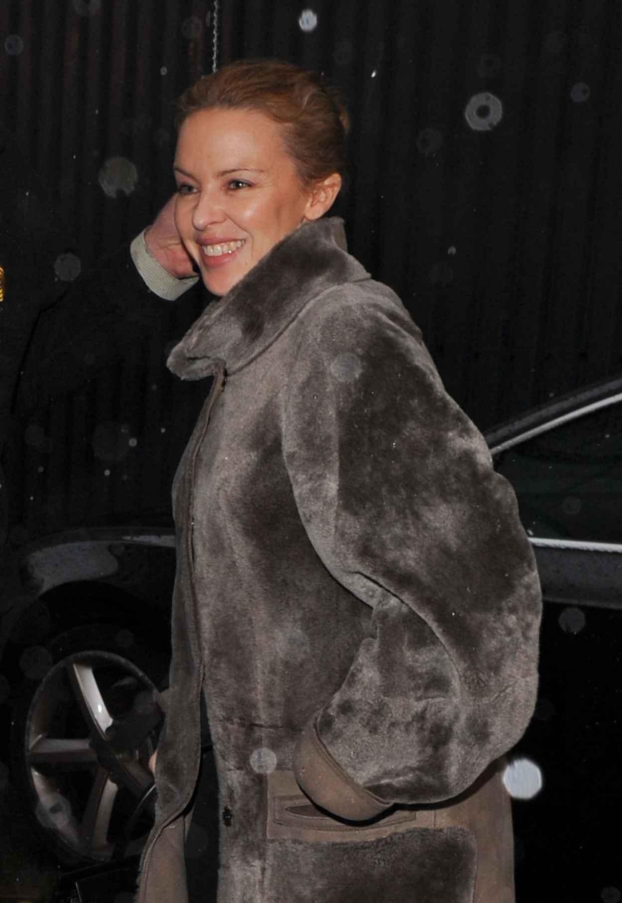 Kylie Minogue - Leaving a Studio in London, Feb. 2015-1