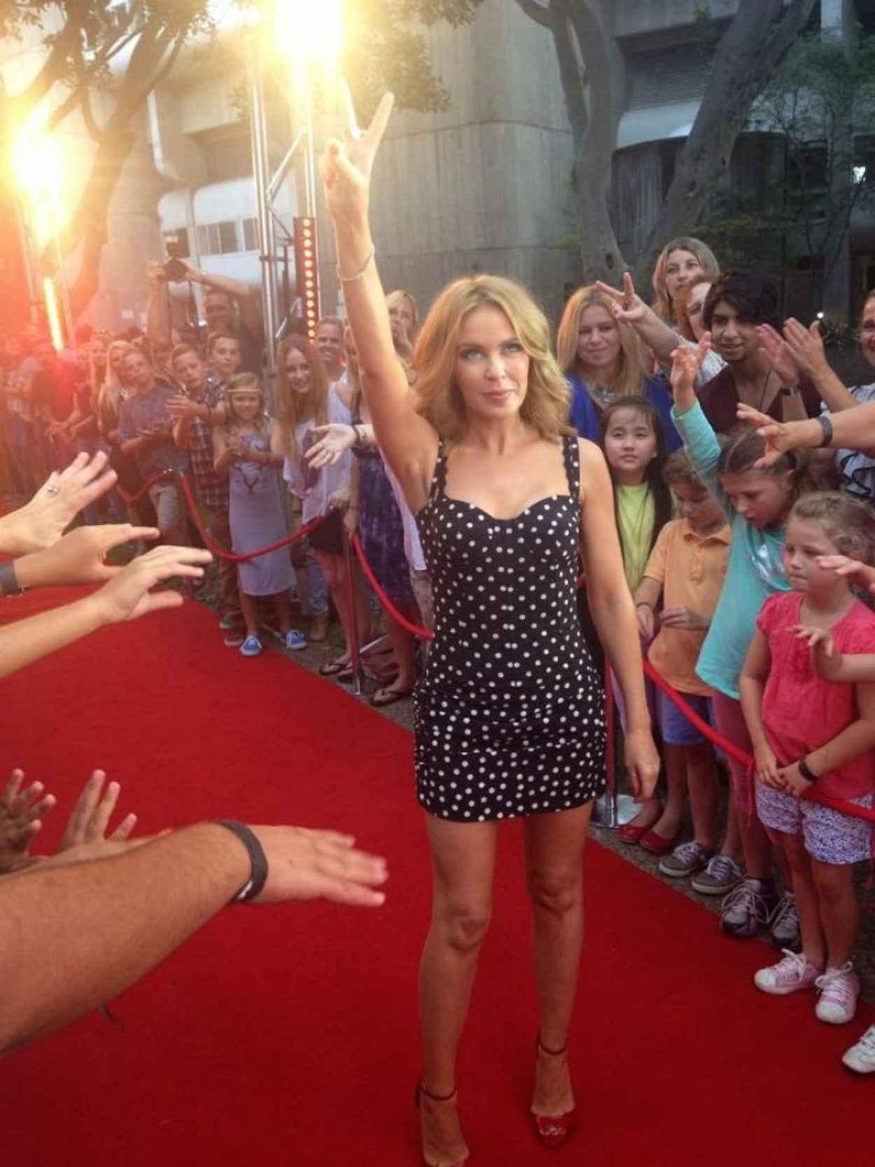 Kylie Minogue - The Voice (Australia) Red Carpet, January 2015-1