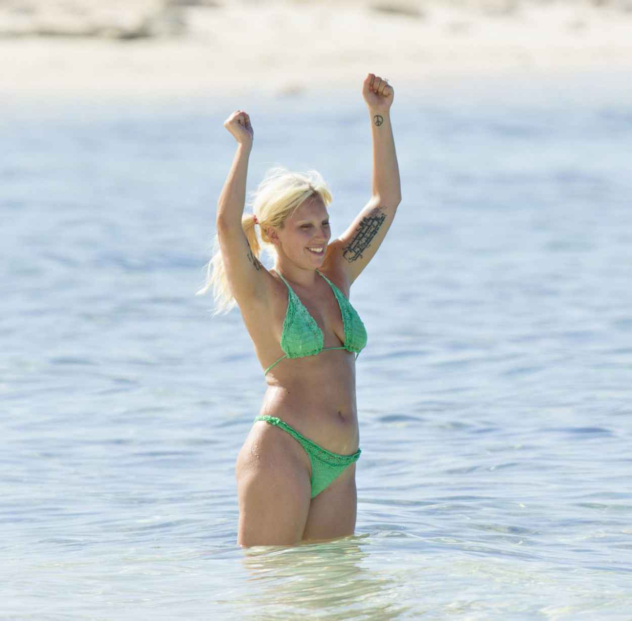 Lady Gaga In Bikini on the Bahamas, June 2015-5