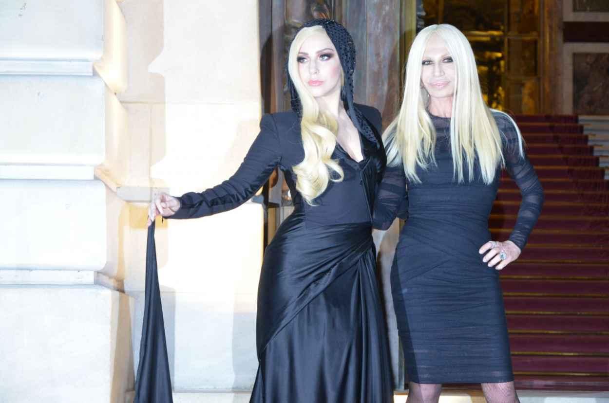 Lady Gaga - Versace Womens Fashion Show - Paris, January 2015-1