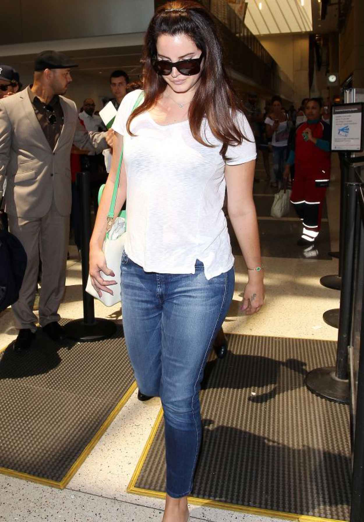 Lana Del Rey Street Style - LAX Airport, July 2015-1