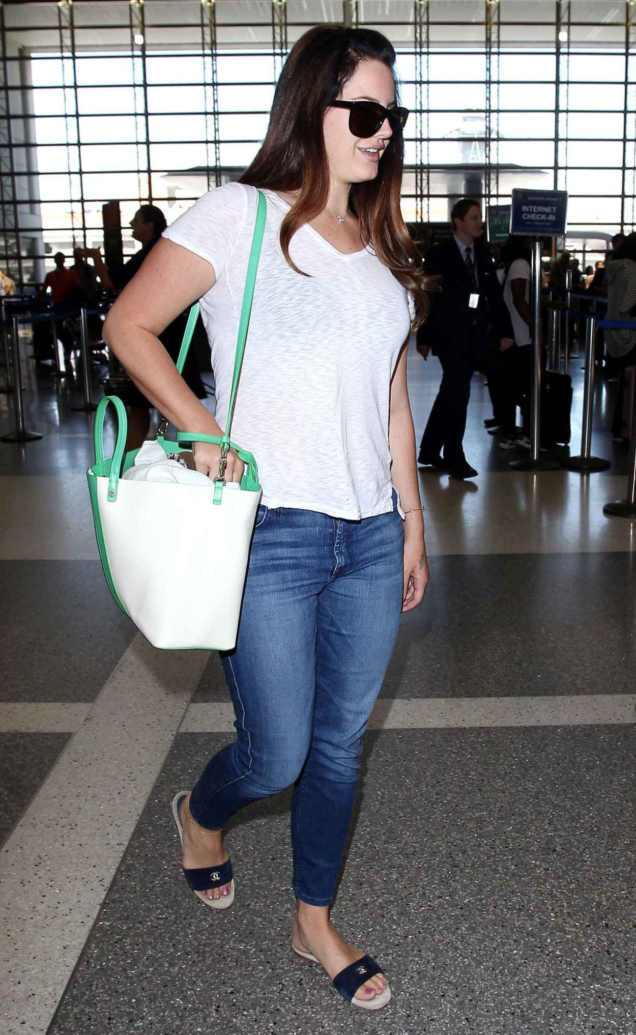 Lana Del Rey Street Style - LAX Airport, July 2015-3