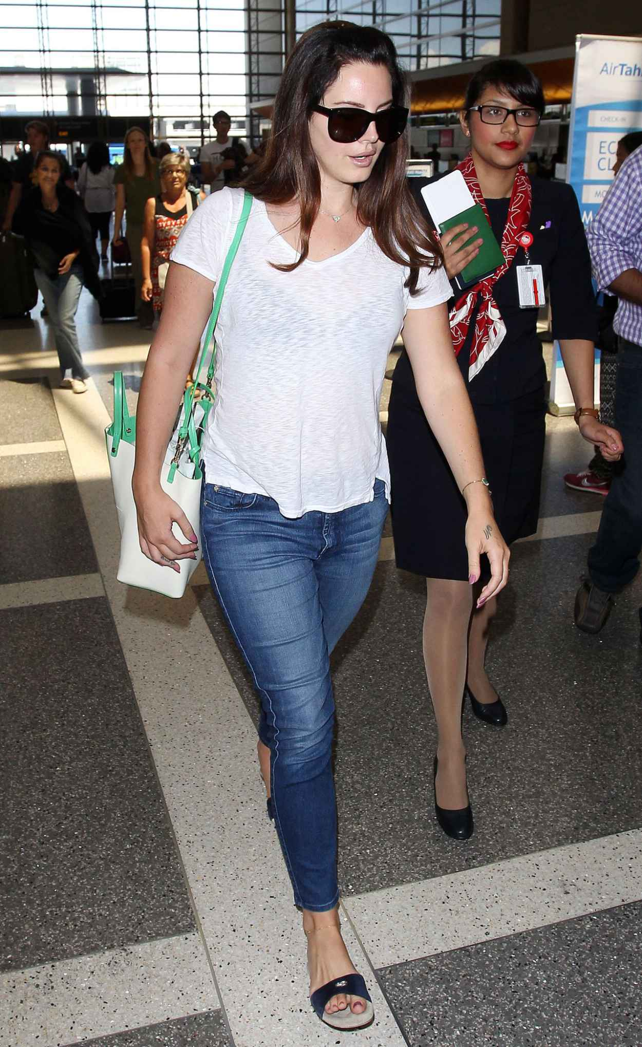 Lana Del Rey Street Style – LAX Airport, July 2015 ...