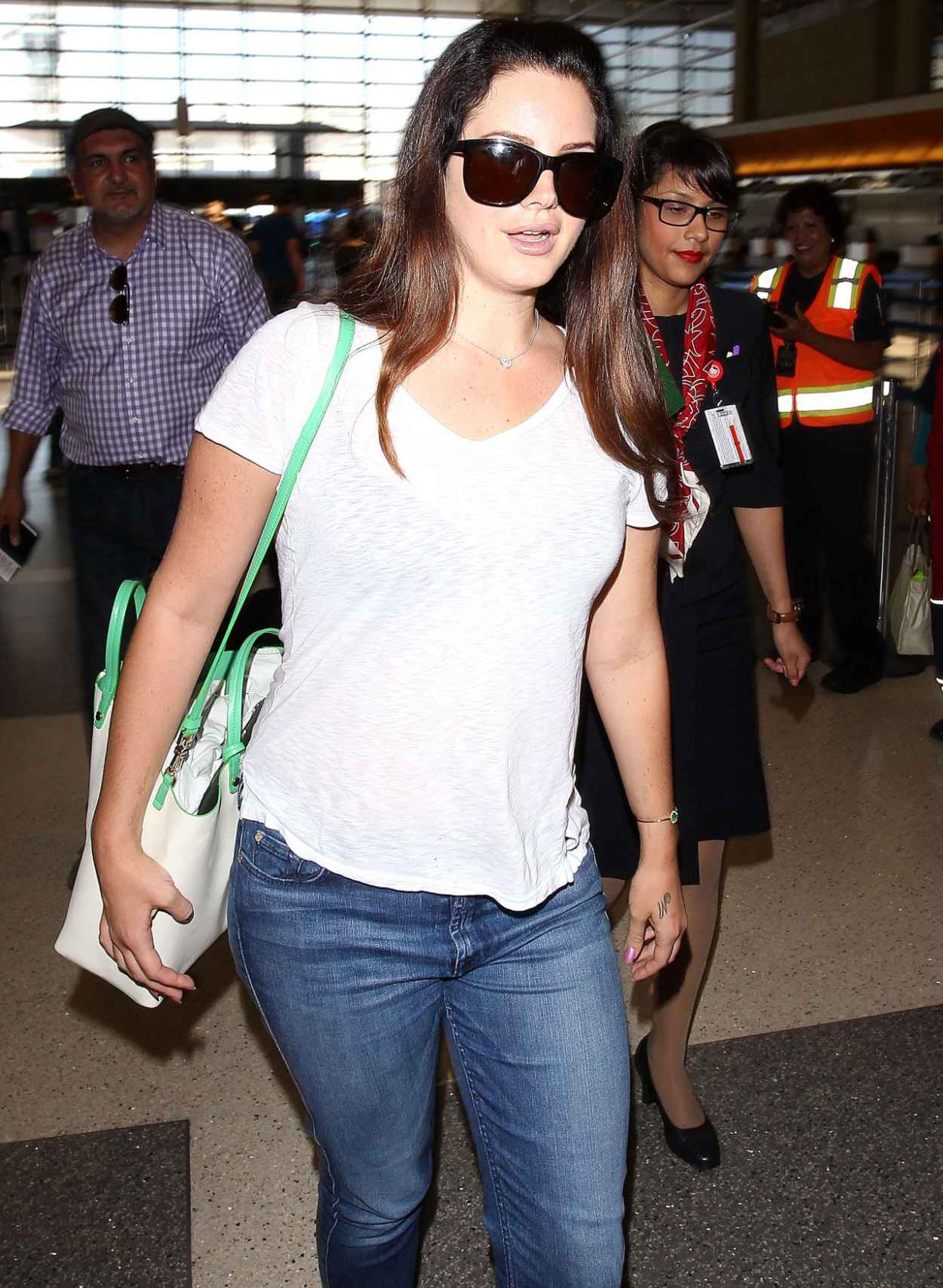 Lana Del Rey Street Style - LAX Airport, July 2015-5