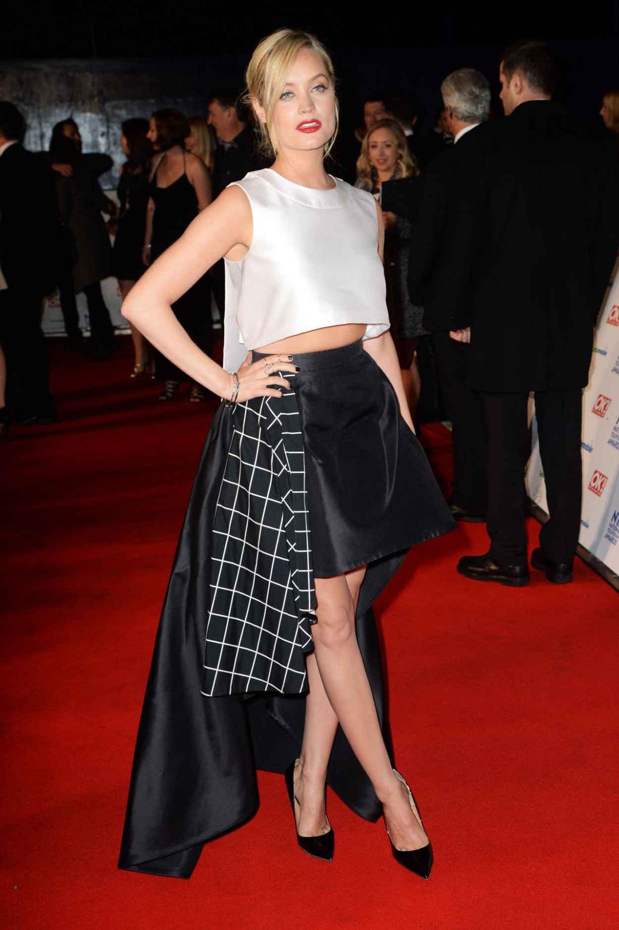 Laura Whitmore Wears LA Mania Dress at National Television Awards London, January 2015-1