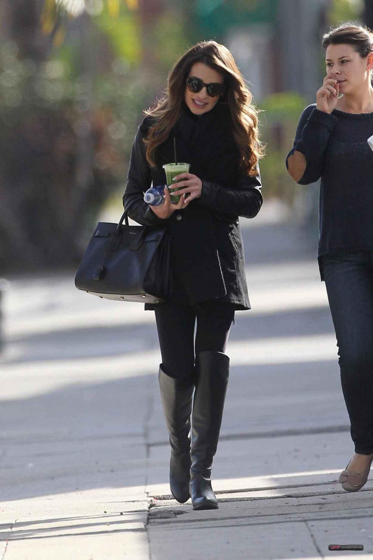 Lea Michele Street Style - Leaving Studio in W. Hollywood - December 2015-2