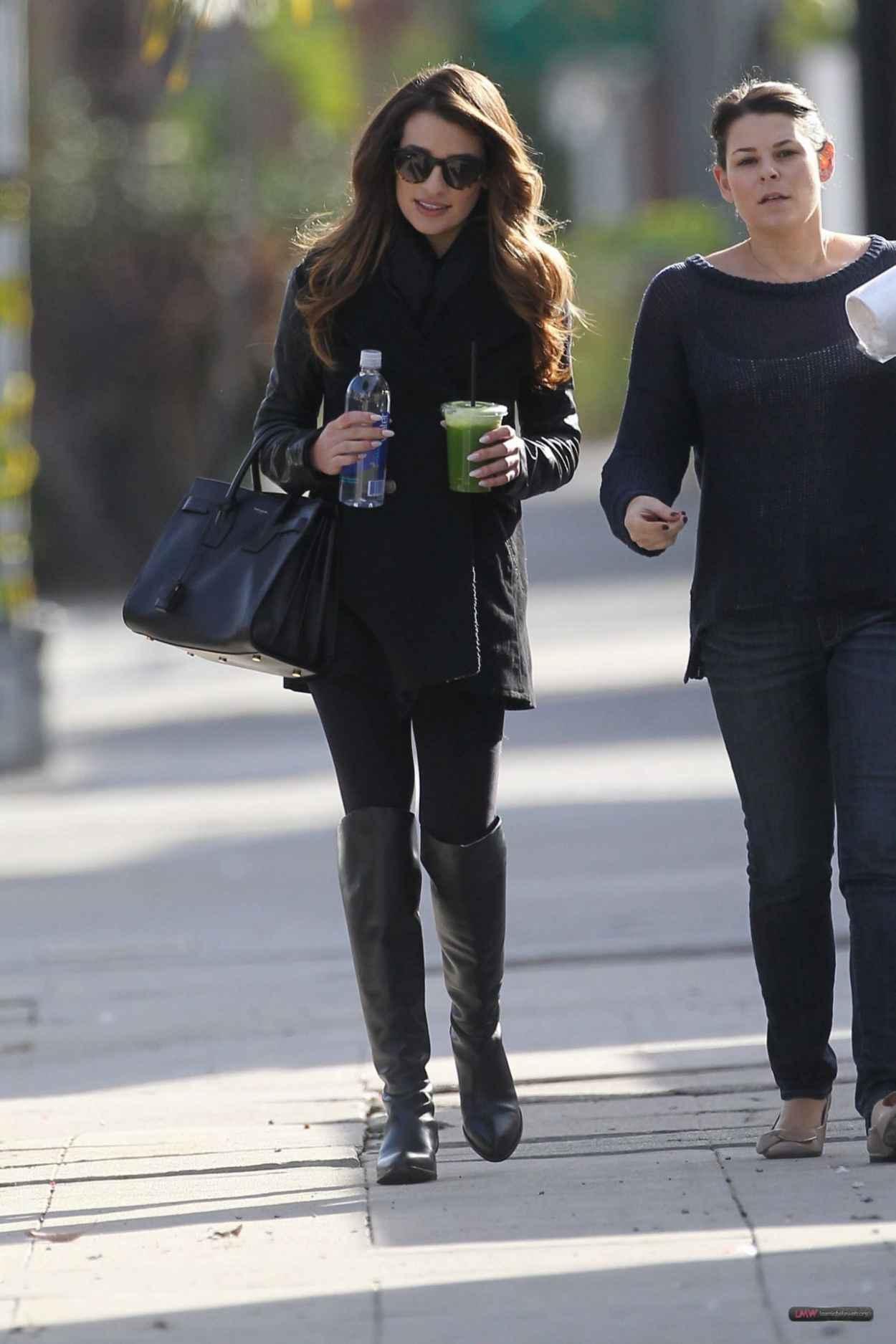 Lea Michele Street Style - Leaving Studio in W. Hollywood - December 2015-3