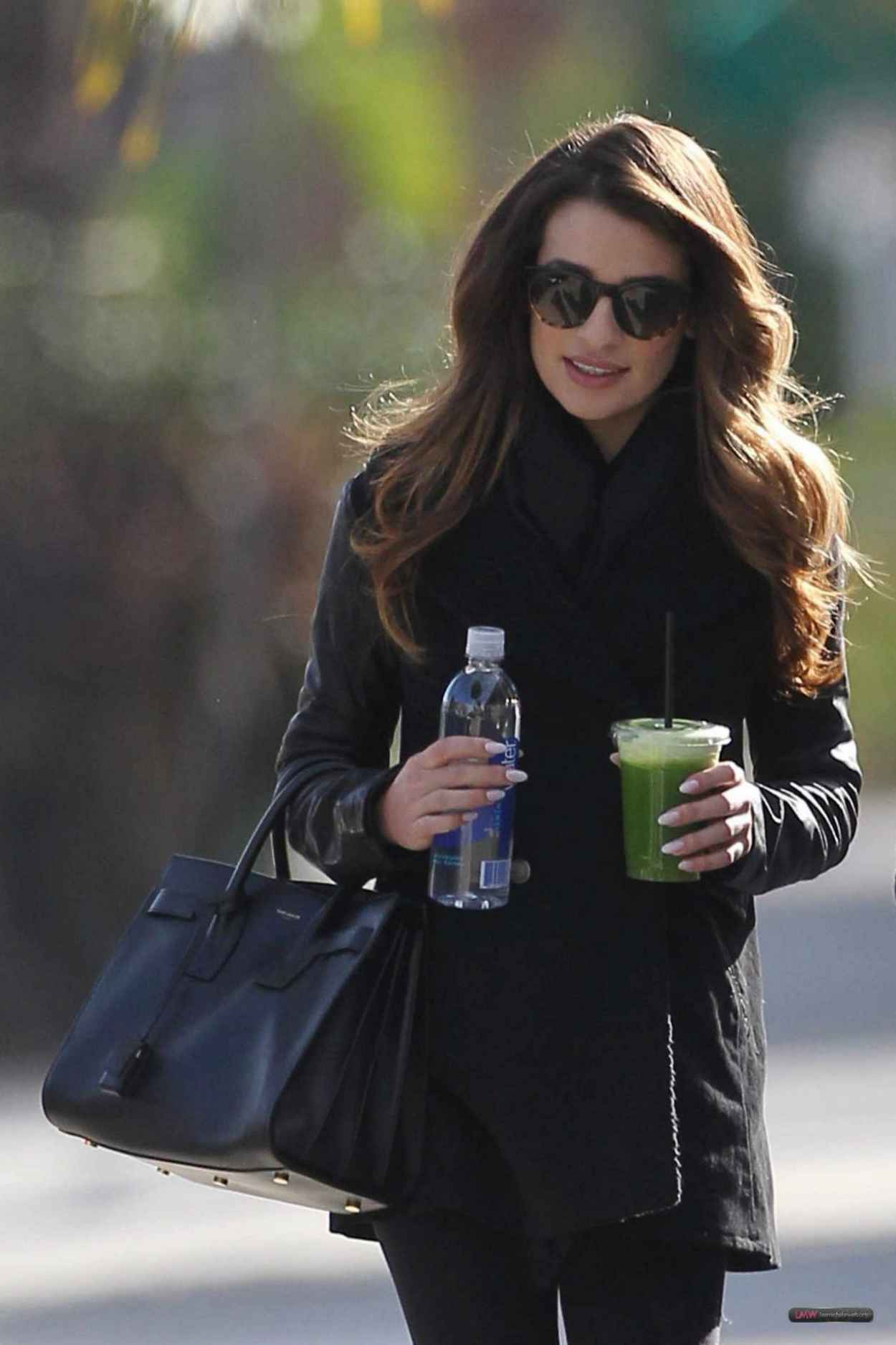 Lea Michele Street Style - Leaving Studio in W. Hollywood - December 2015-5