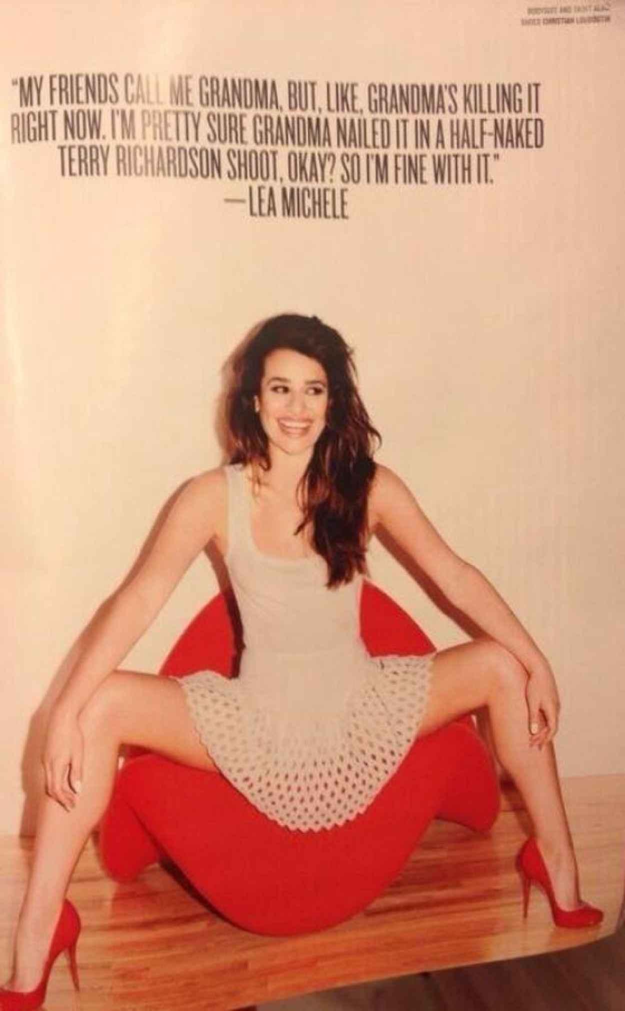 Lea Michele - V Magazine Photoshoot (Terry Richardson)-1