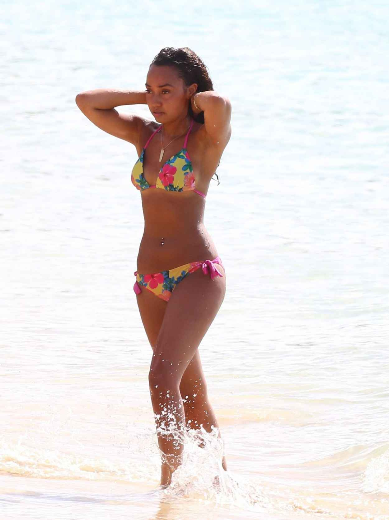 Leigh-Anne Pinnock Bikini Pics - Beach in Barbados, Dec. 2015-4
