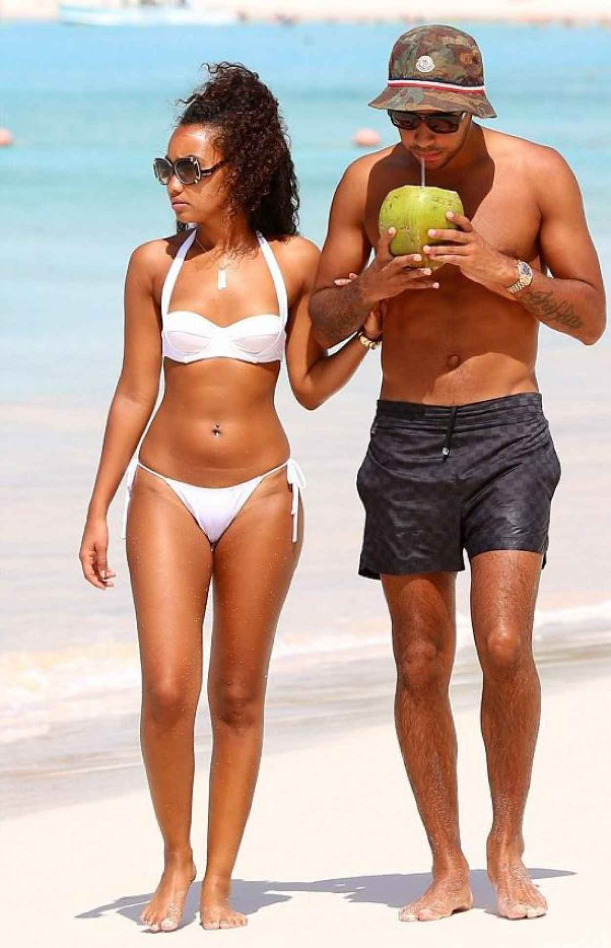 Leigh-Anne Pinnock in White Bikini in Barbados - January 2015-1