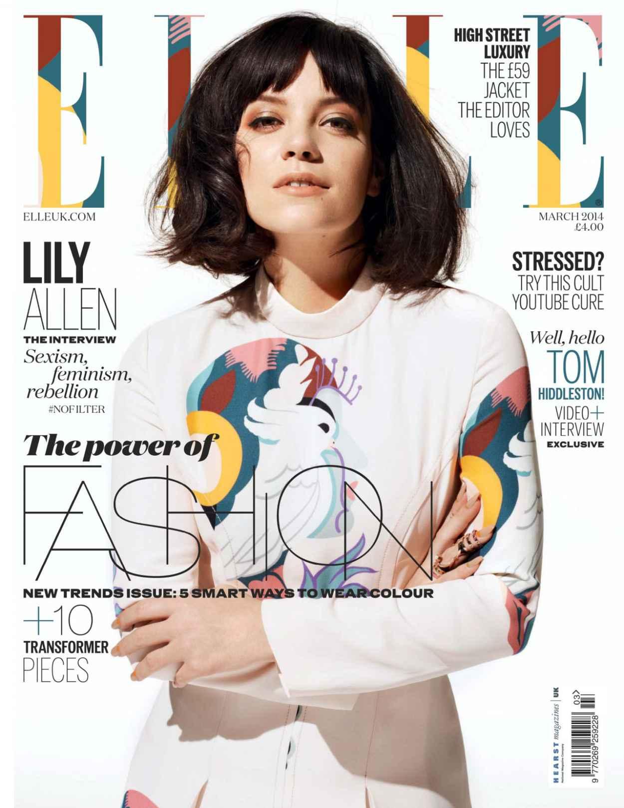 Lily Allen - ELLE Magazine (UK) - March 2015 Cover-1