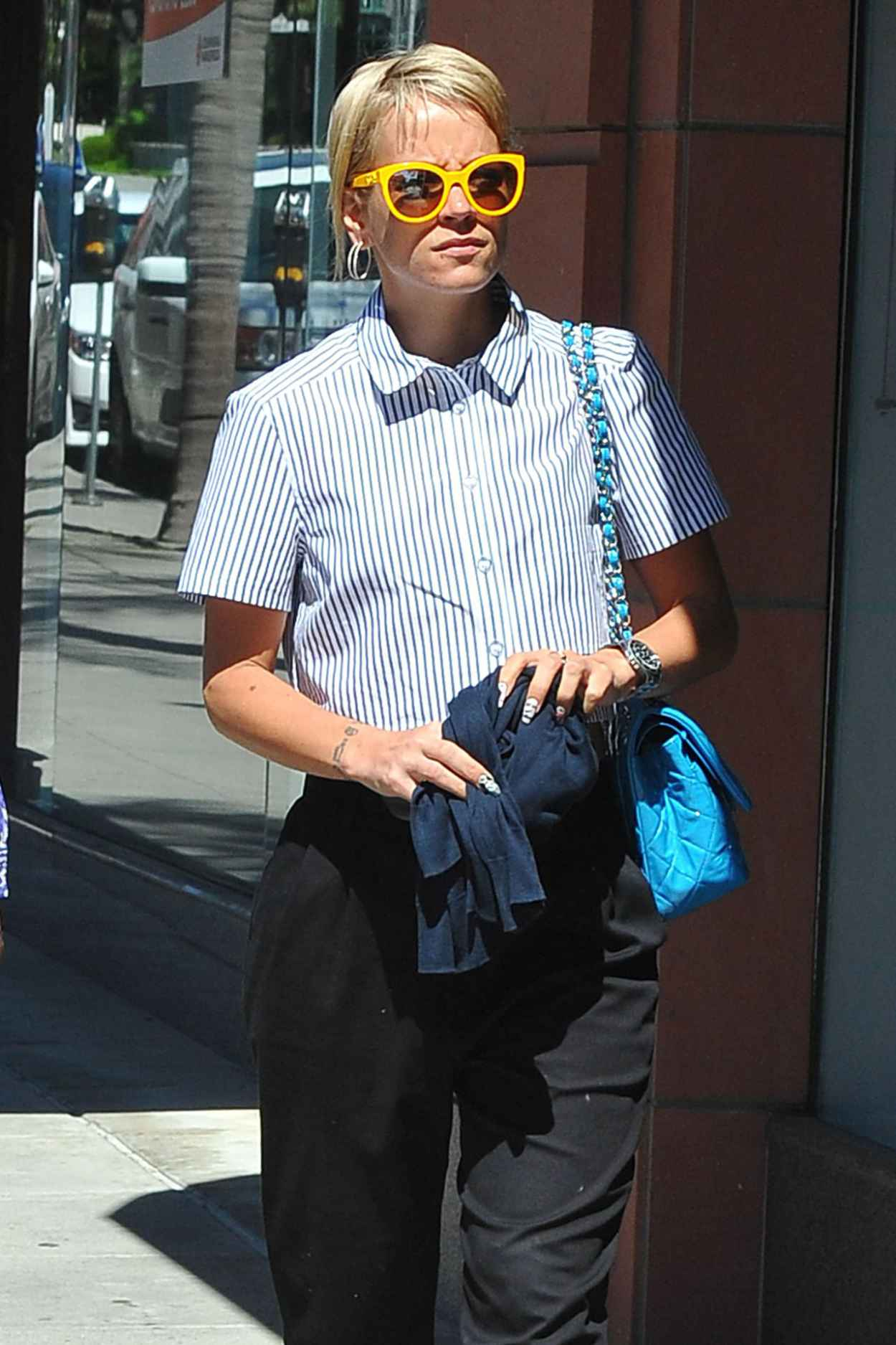 Lily Allen Street Fashion - Going to Anastasian Salon in Beverly Hills - March 2015-1