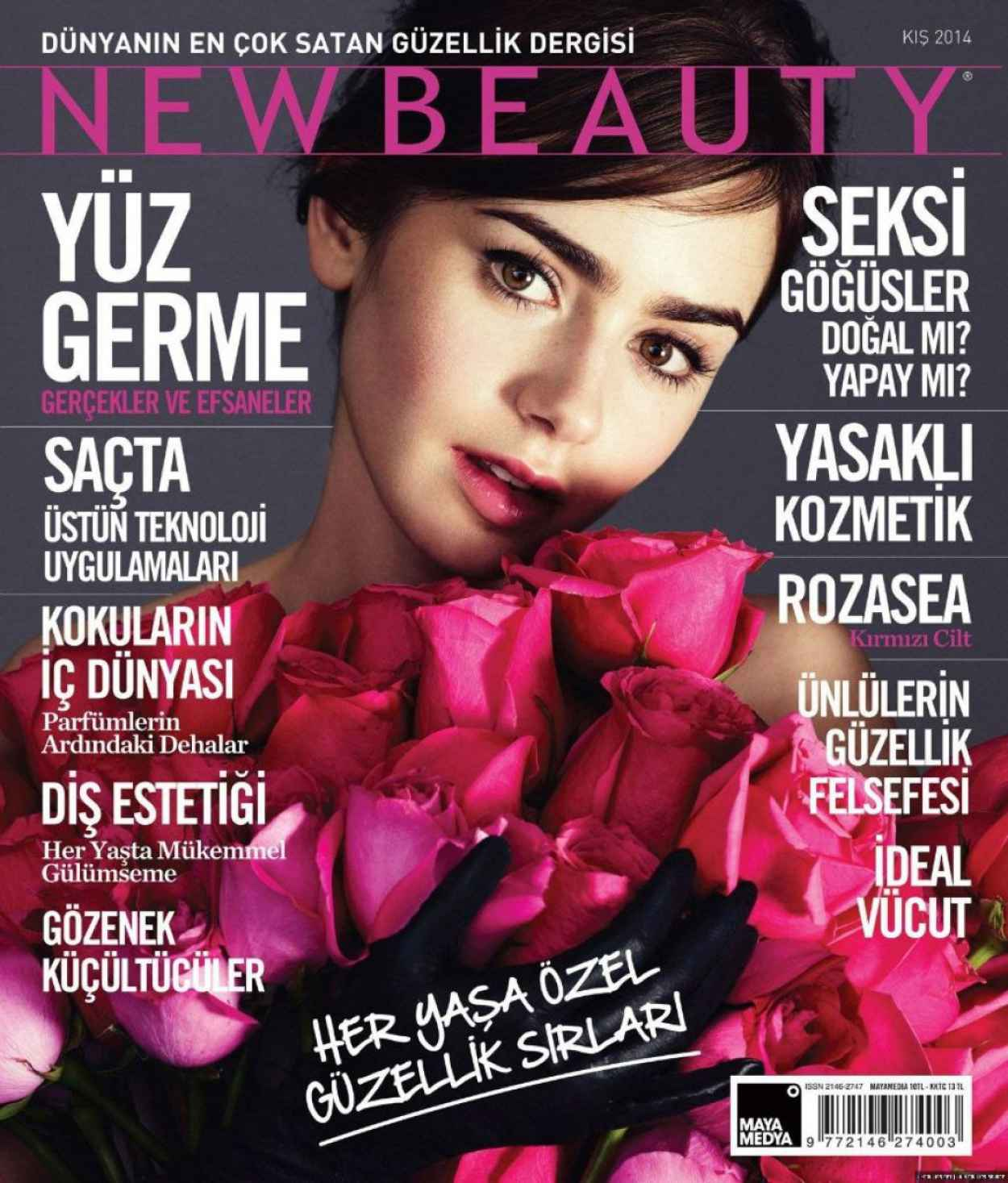Lily Collins - NEW BEAUTY Magazine (Turkiye) - January 2015 Issue-1