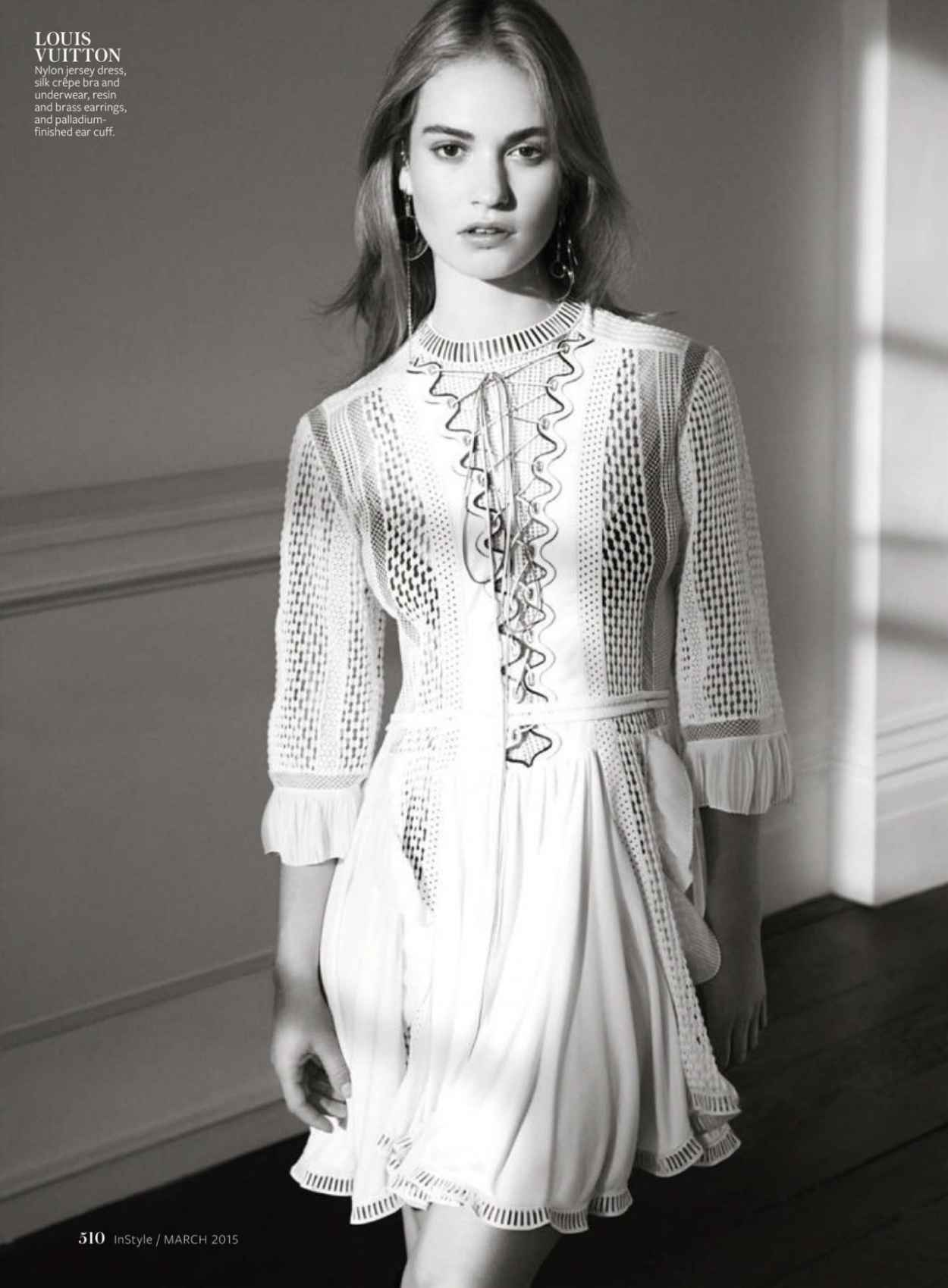 Lily James - InStyle Magazine (US) March 2015 Issue-1
