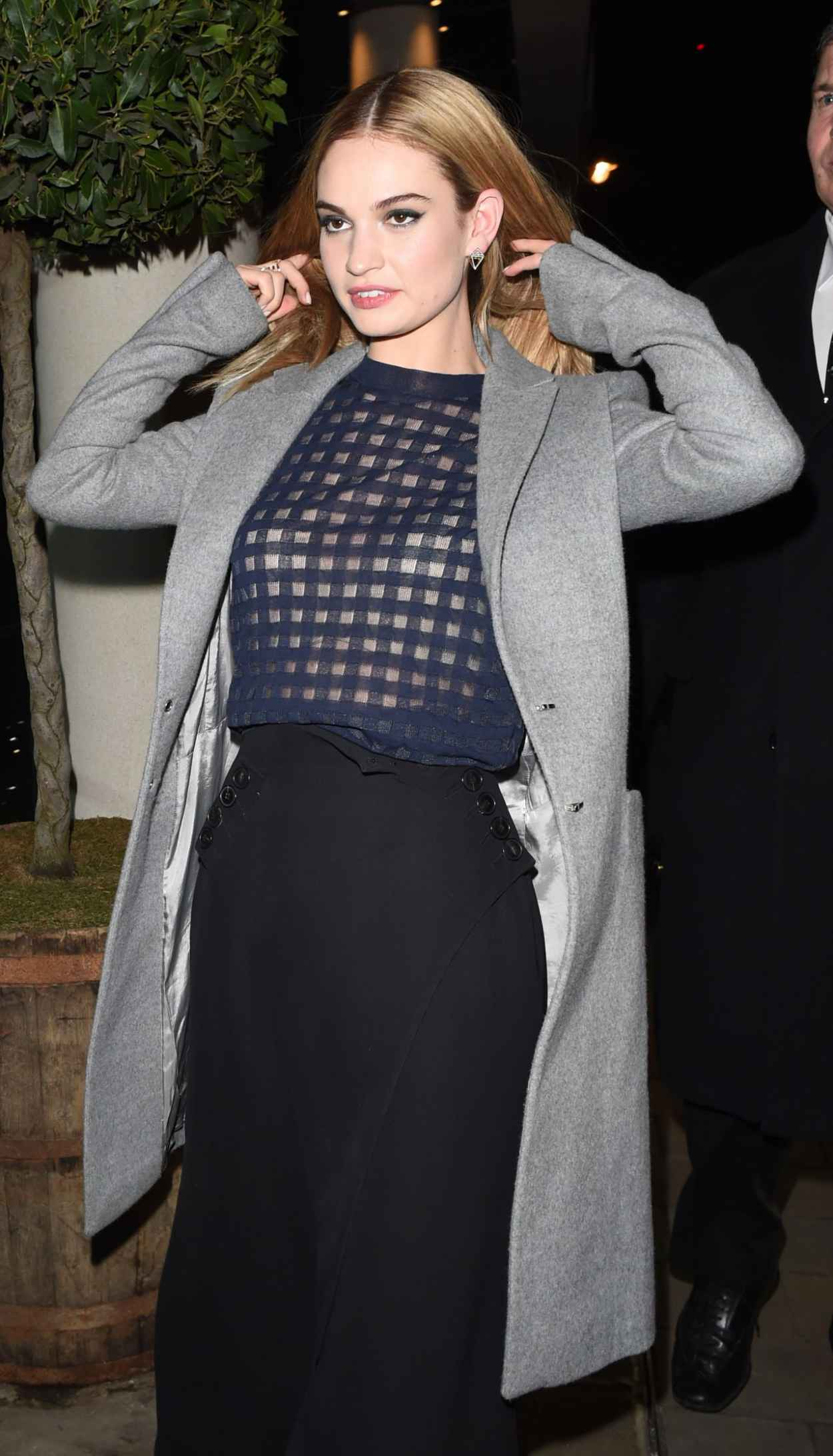 Lily James - Leaving a Party in London, March 2015-1