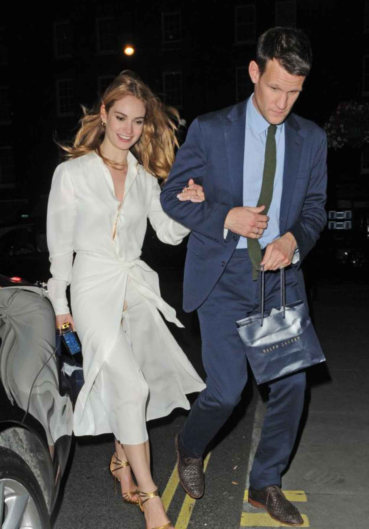 Lily James Night Out Style - Arrives at the Firehouse in London, June 2015-1