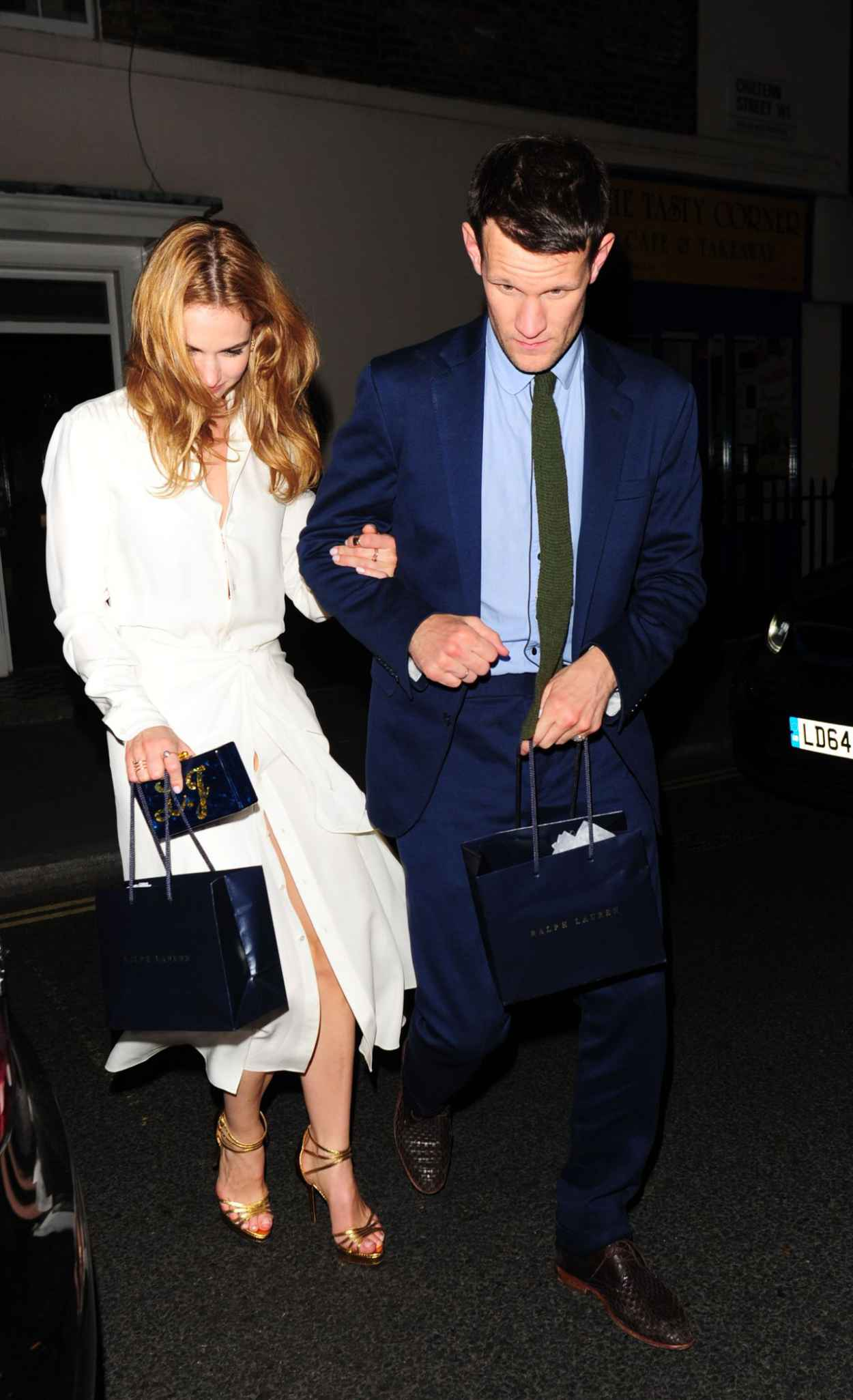 Lily James Night Out Style - Arrives at the Firehouse in London, June 2015-2