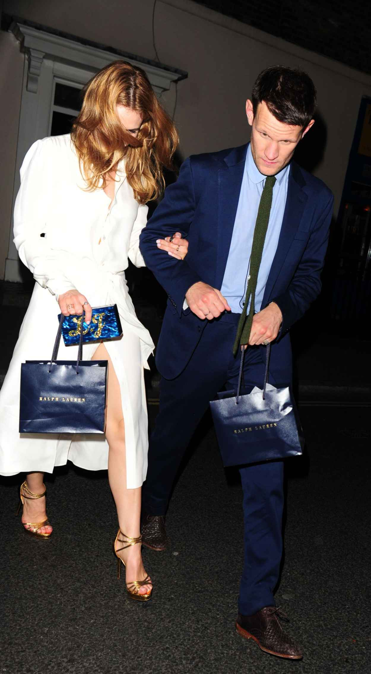 Lily James Night Out Style - Arrives at the Firehouse in London, June 2015-4