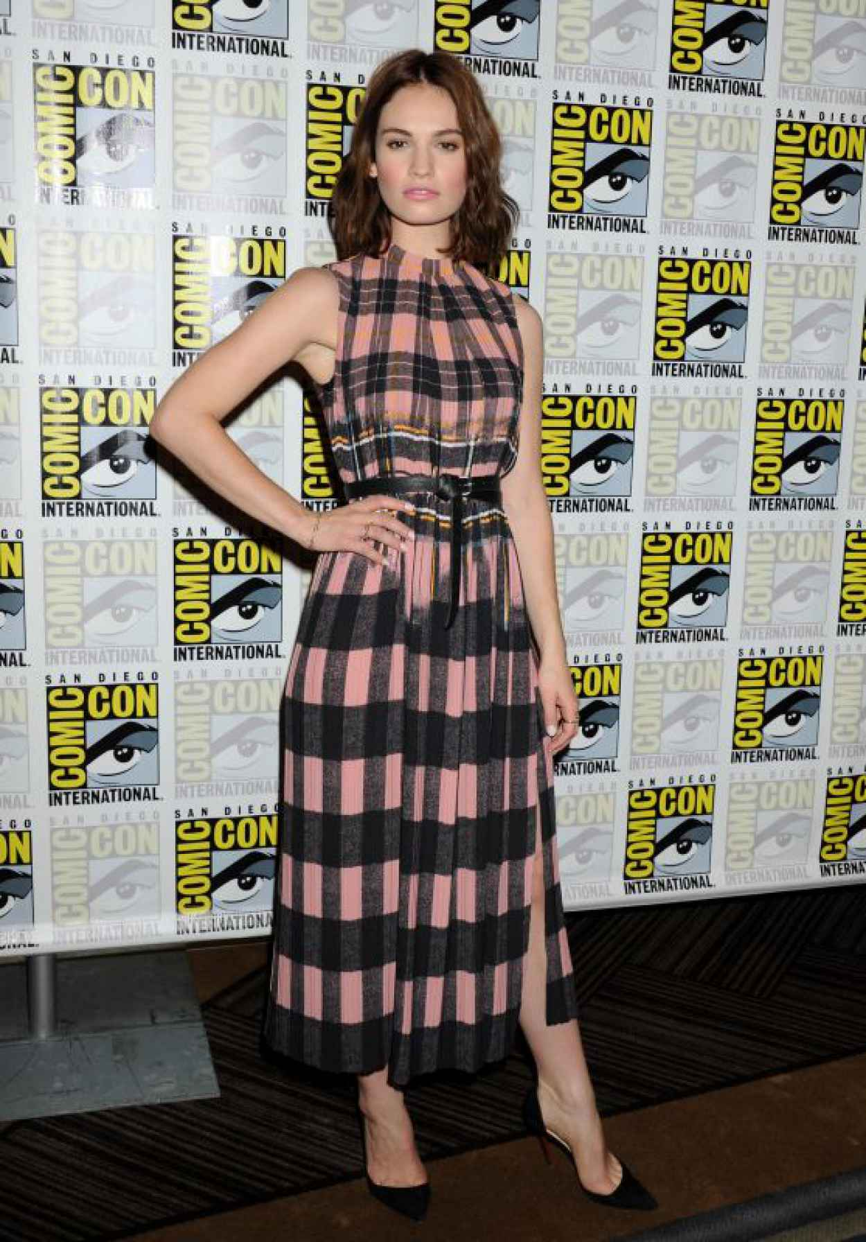 Lily James - Pride and Prejudice and Zombies Press Line - Comic-Con in San Diego-1