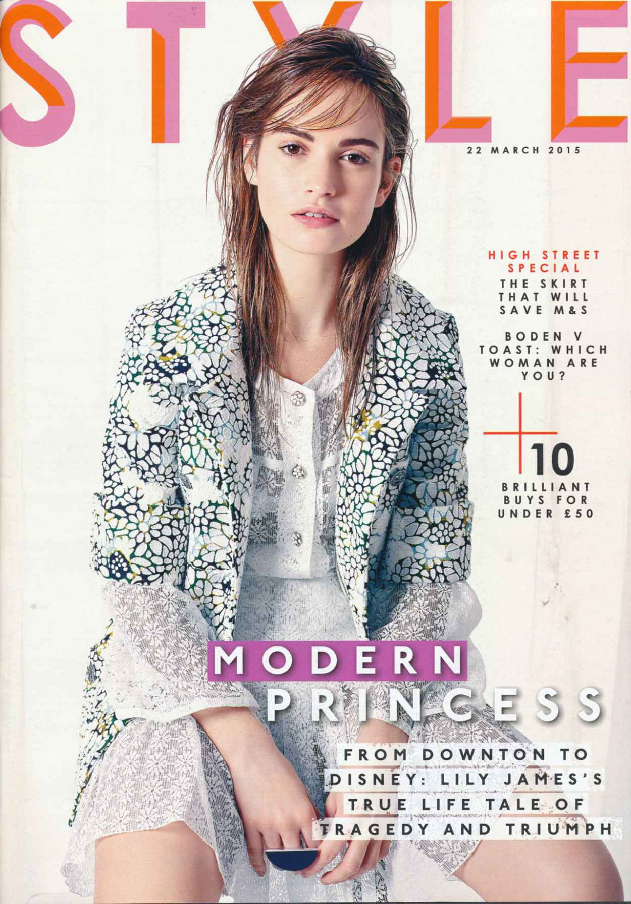 Lily James - Style Magazine March 22nd 2015 Issue-1