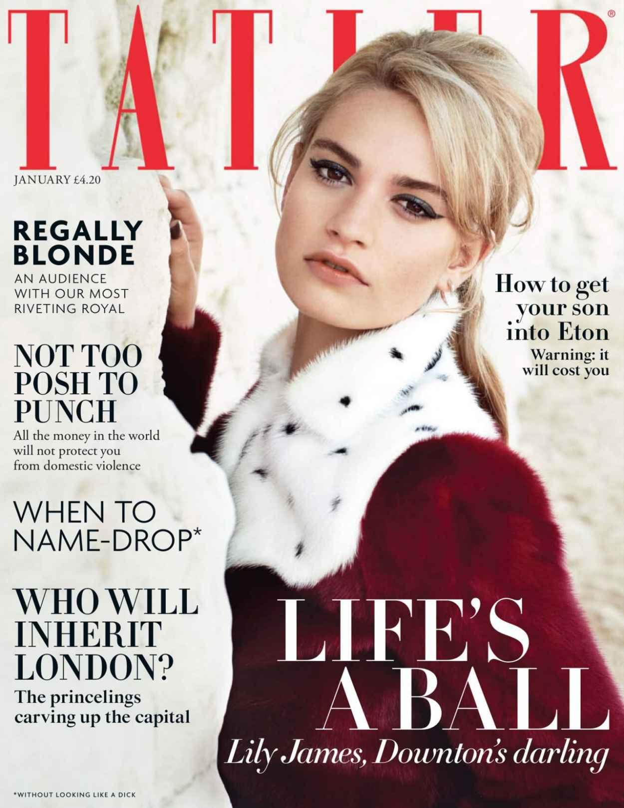 Lily James - TATLER Magazine (UK) - January 2015 Issue-2