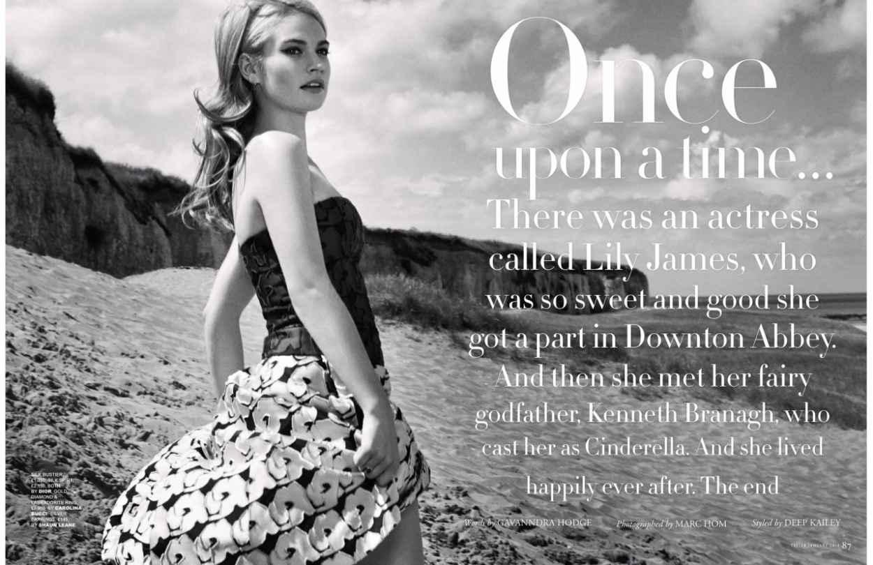 Lily James - TATLER Magazine (UK) - January 2015 Issue-3